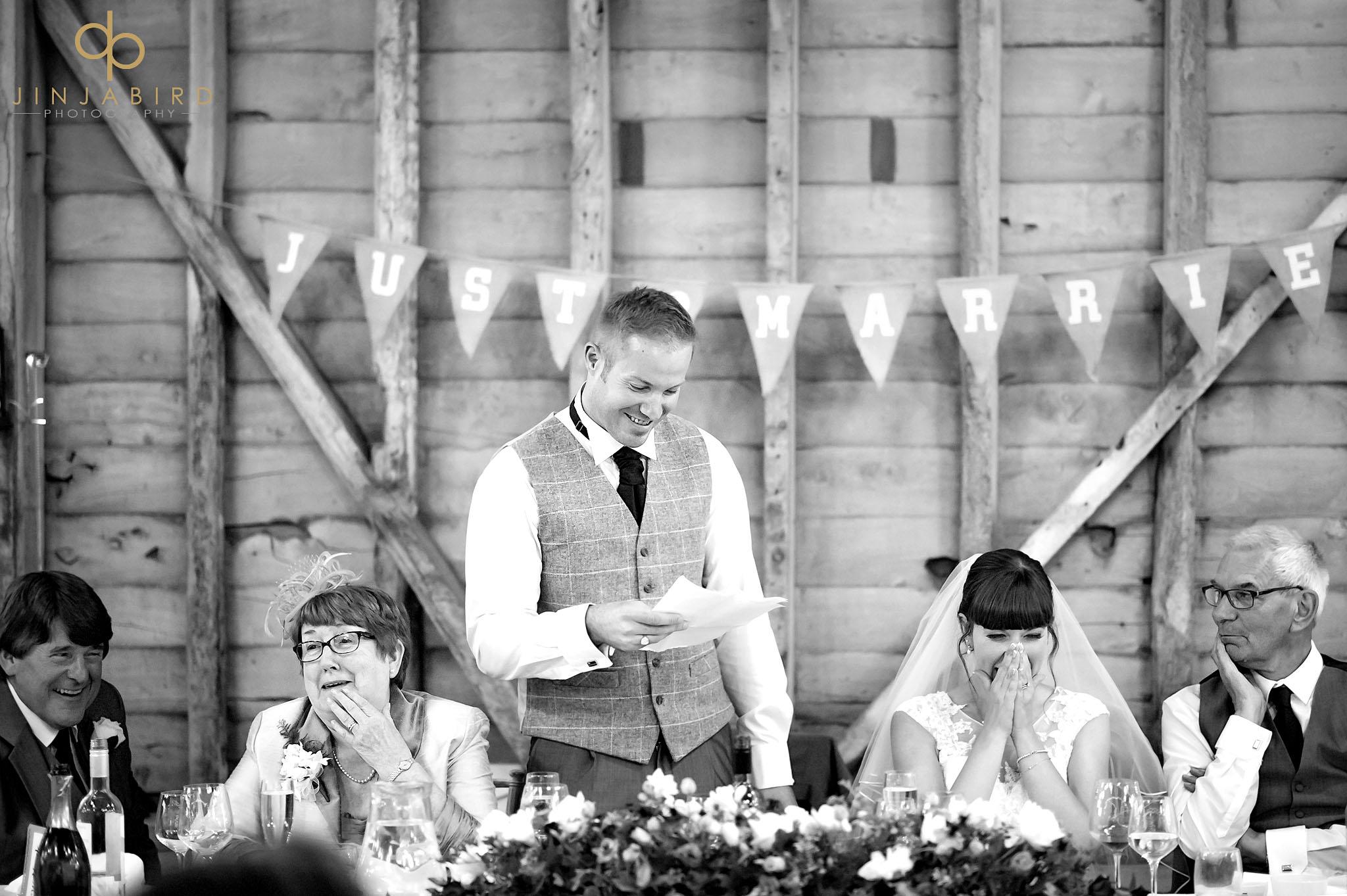childerley hall wedding long barn