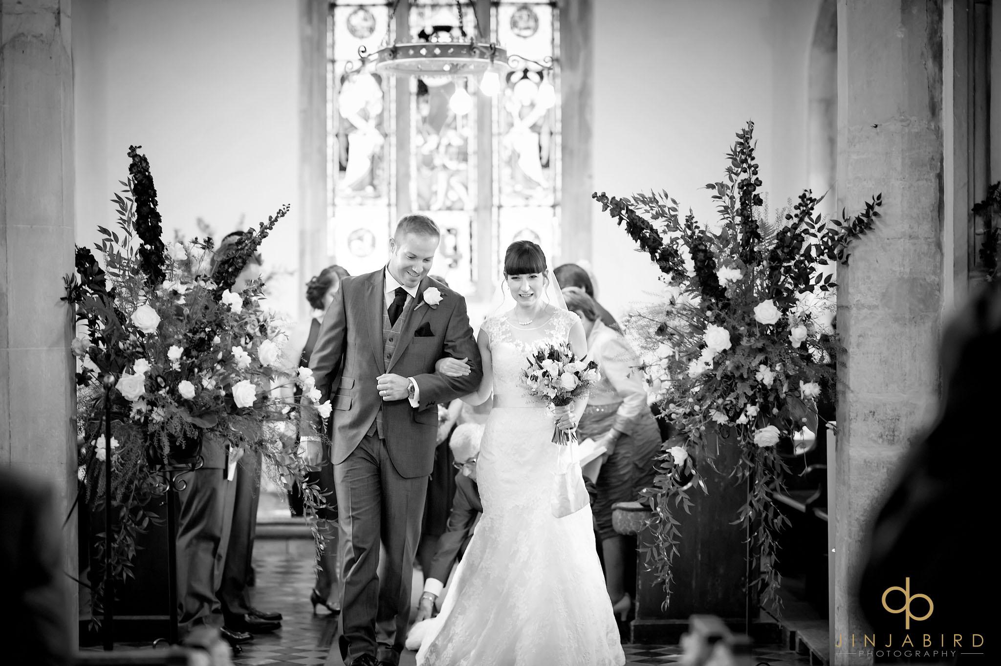 wedding ceremony st-mary magdalene church hilton