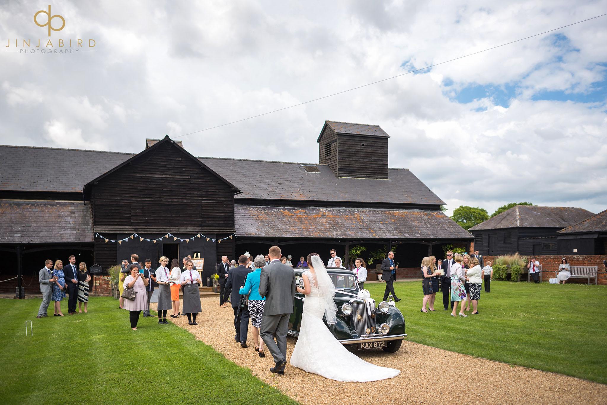 wedding childerley hall long barn