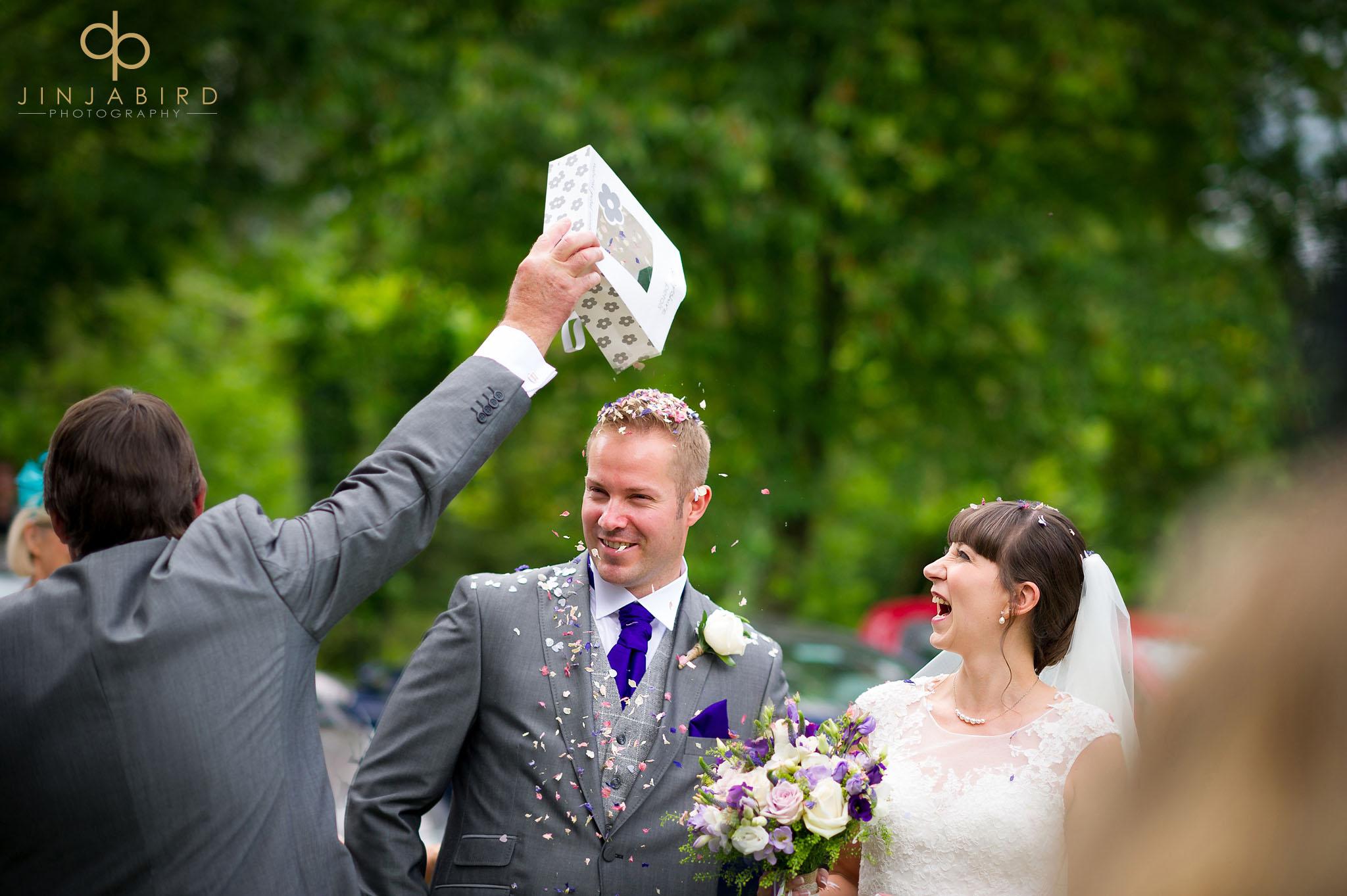 wedding confetti childerley hall