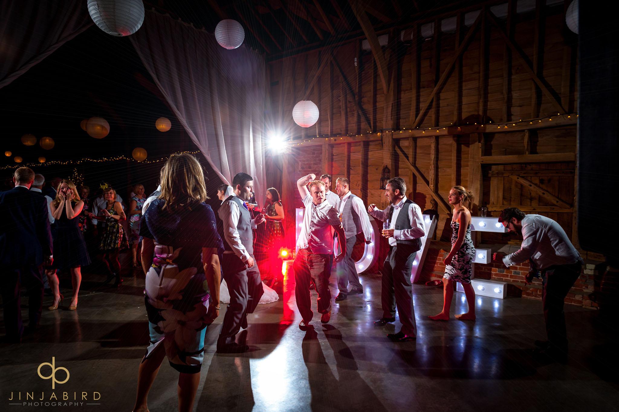 wedding guests dancing childerley hall