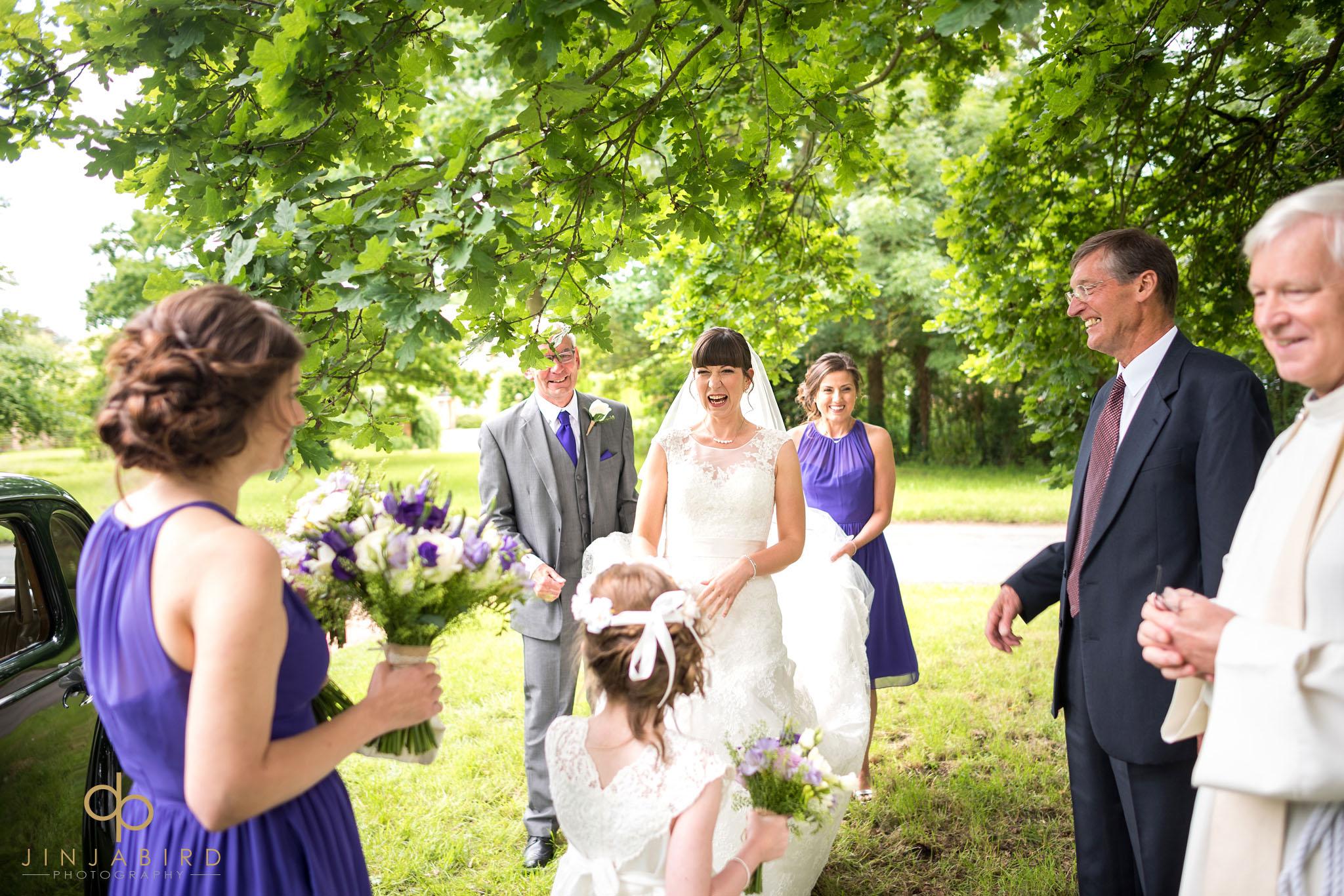 wedding photograph st-mary magdalene church hilton