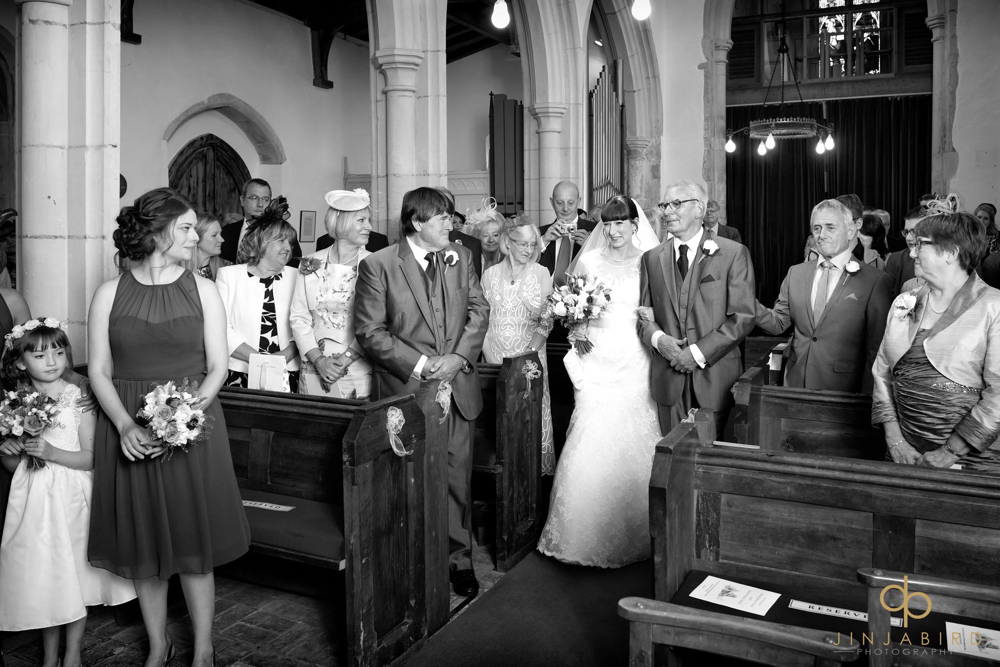 wedding photographs st-mary magdalene church hilton