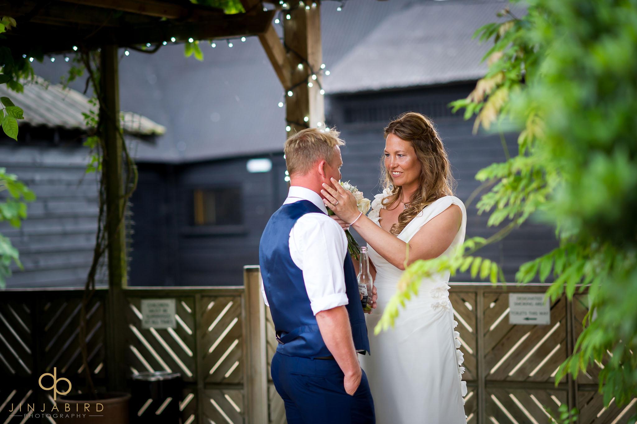 bride loving groom south farm