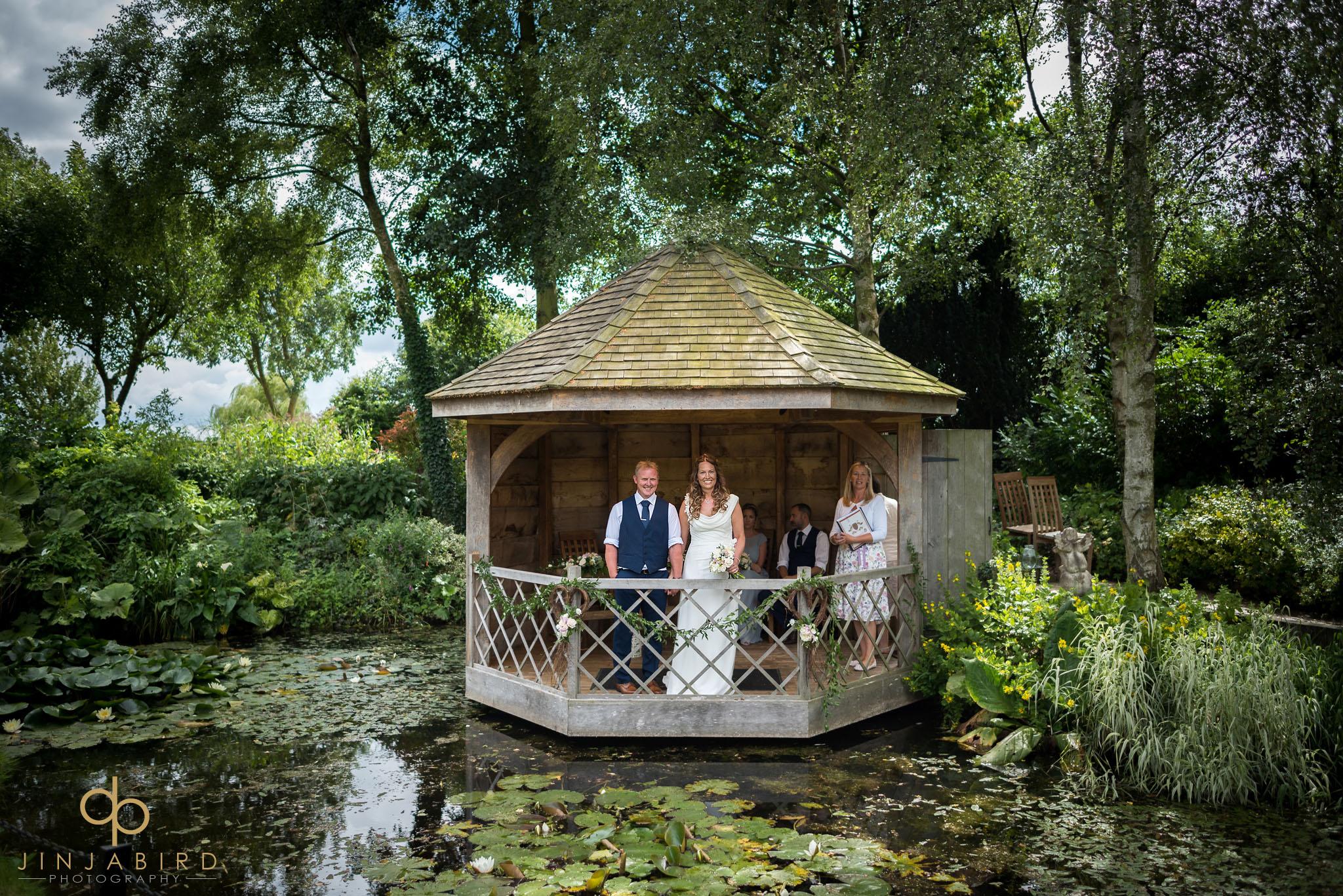 wedding in garden south farm