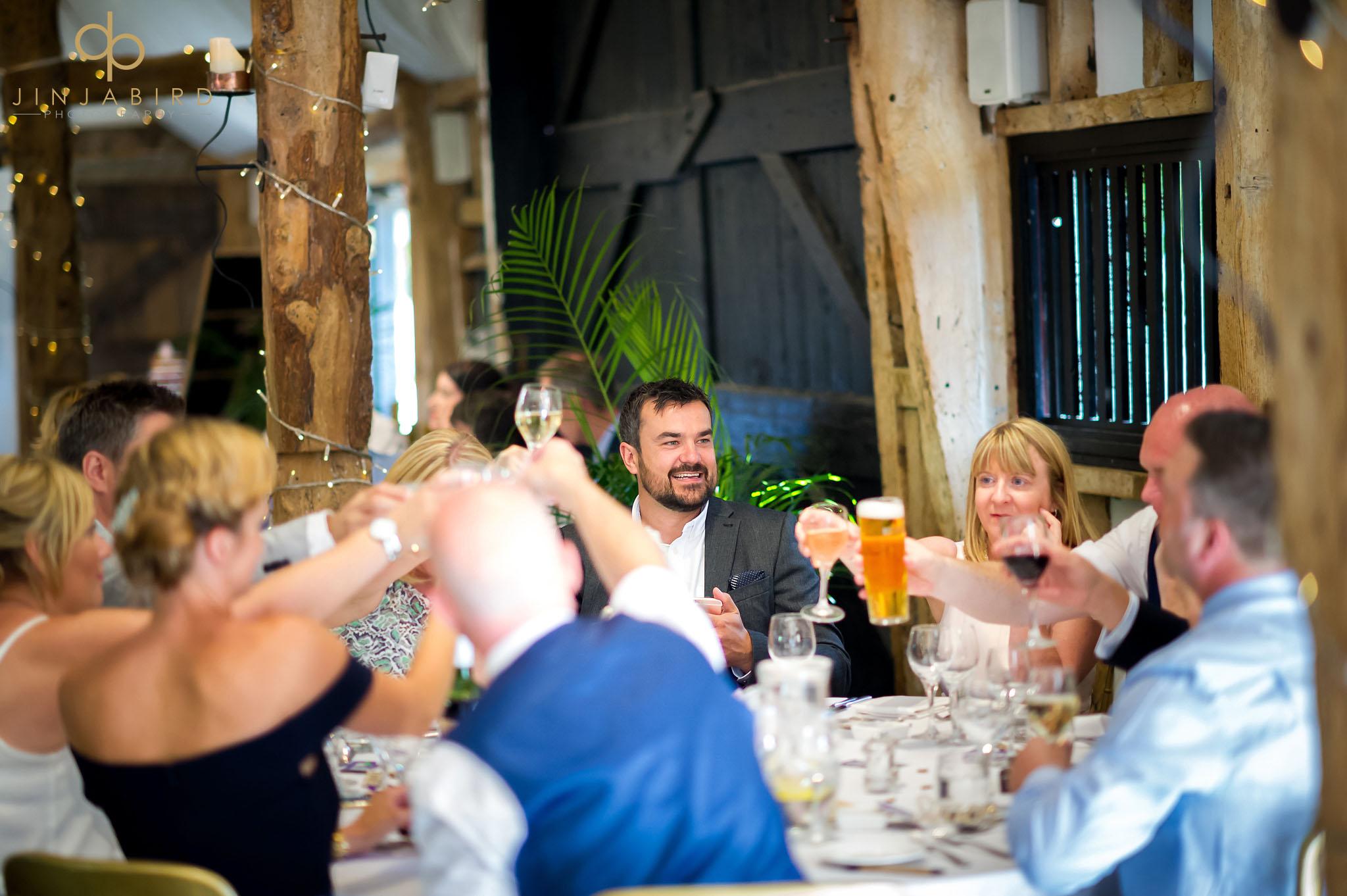 wedding toast south farm