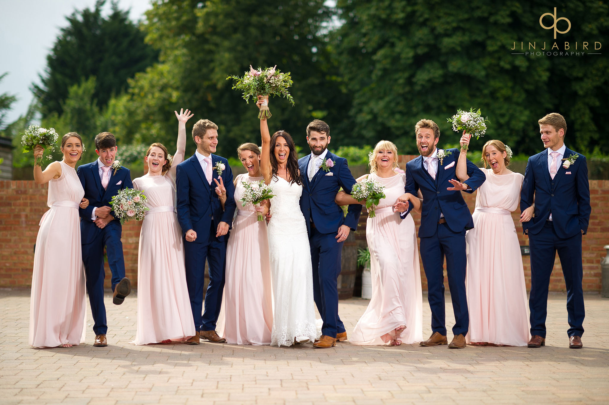 bridal party at bassmead manor