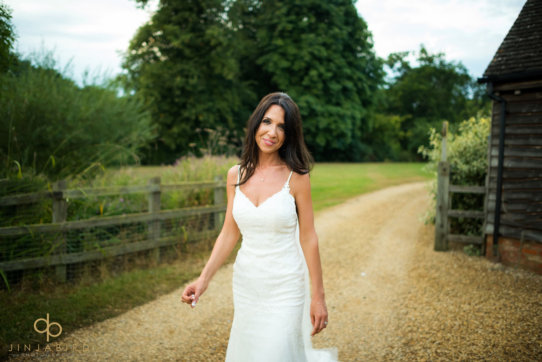 bride outside bassmead manor