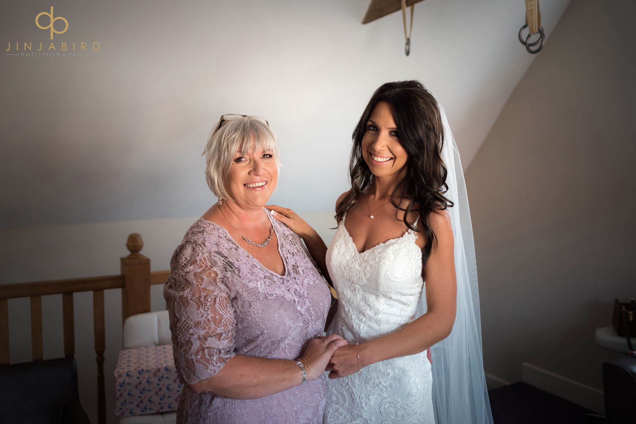 bride with mum bassmead manor