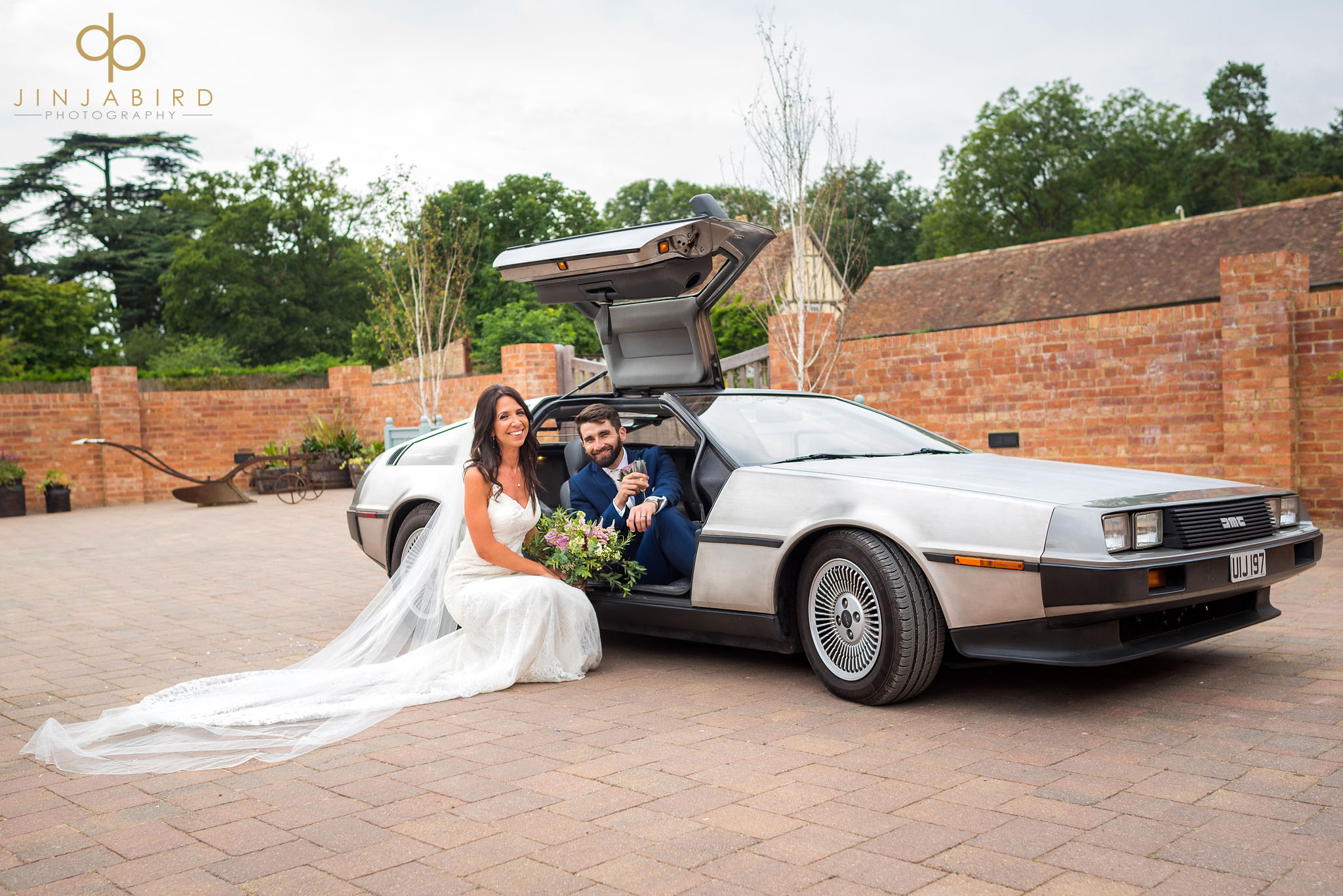 delorean wedding car bassmead manor