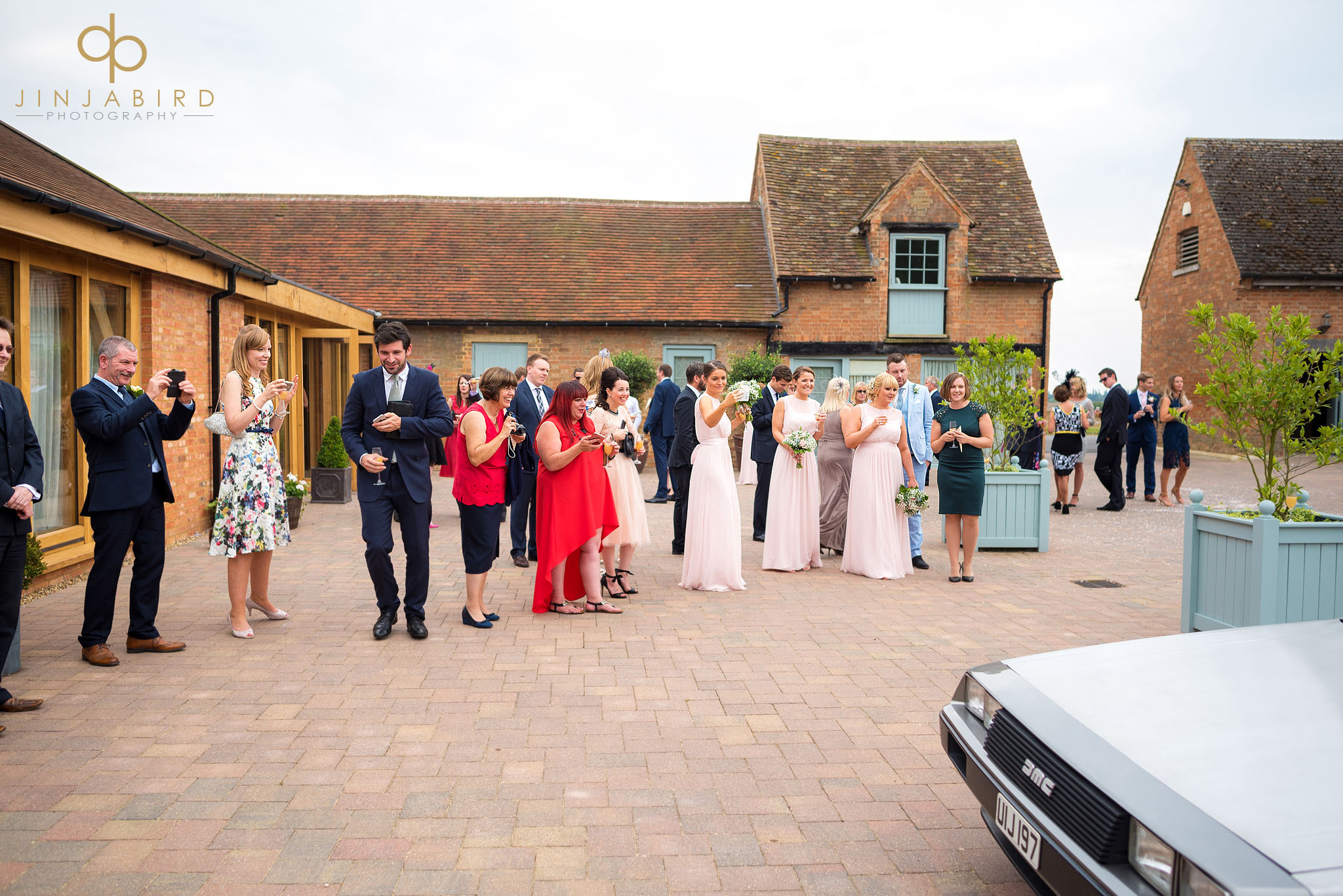 wedding guests photographing bassmead manor