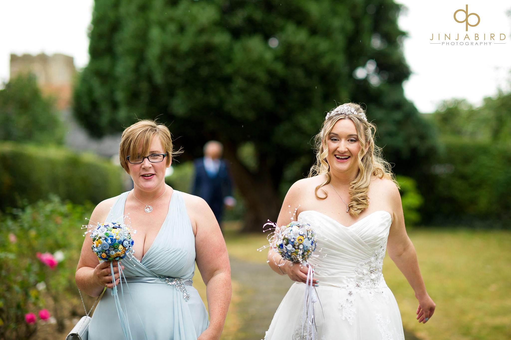 bride-with-bridesmaid-congregational-church-roxton