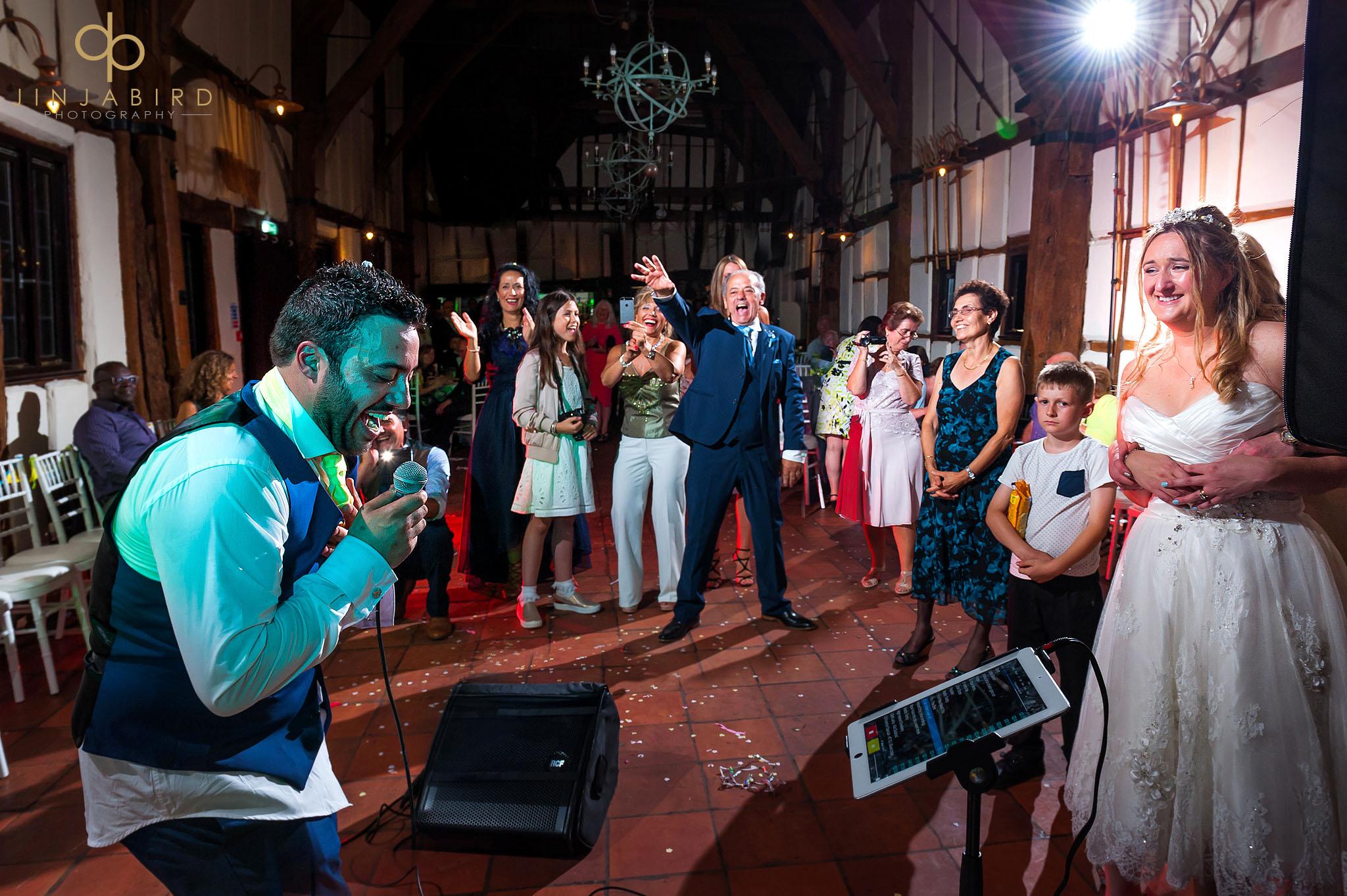 groom-singing-barns-hotel