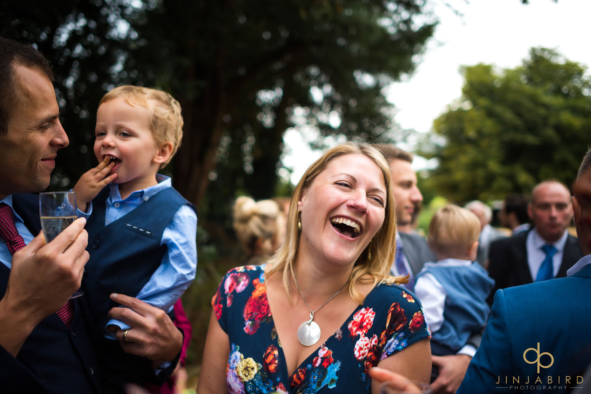wedding-guests-laughing-highgate-house