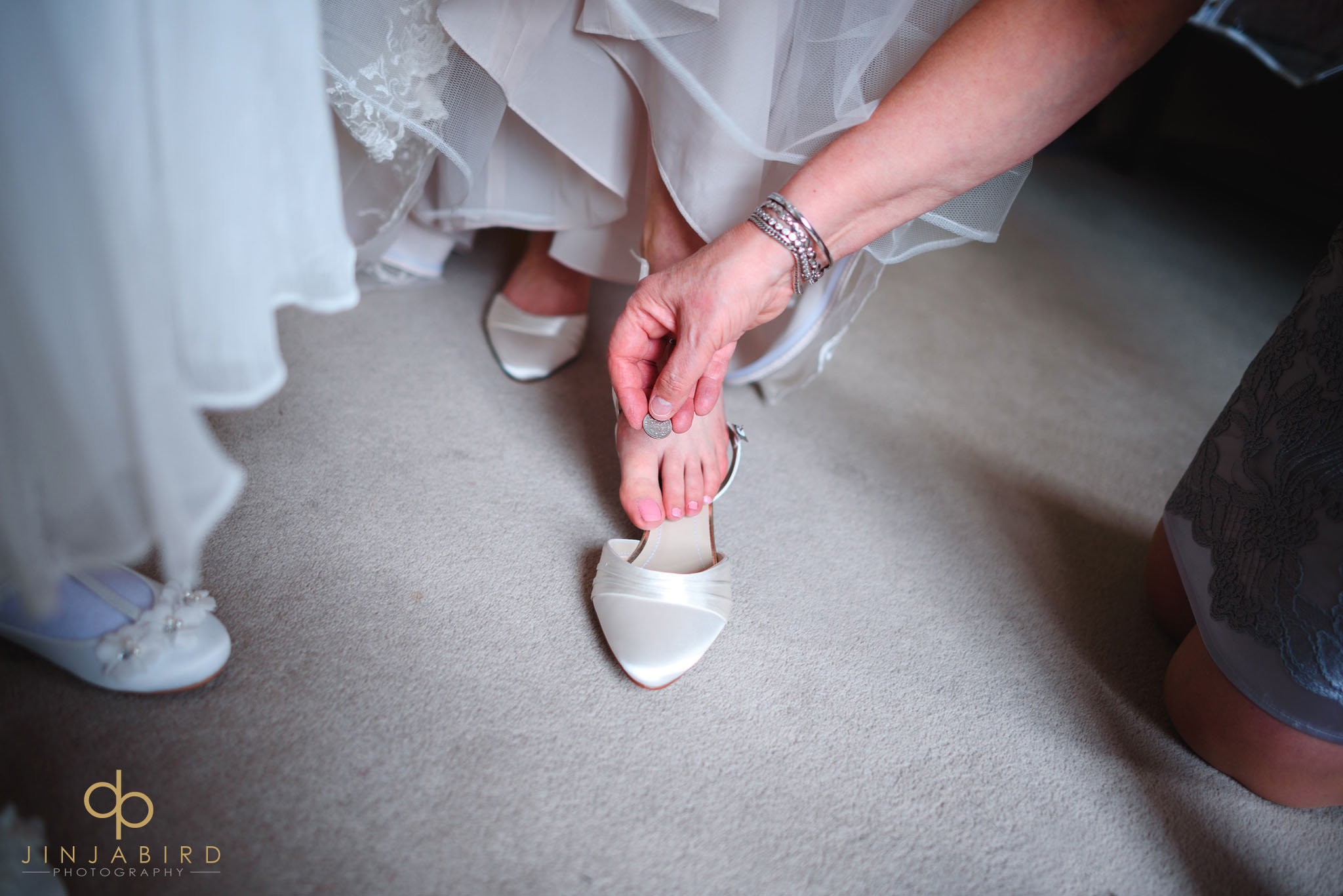 putting sixpence in wedding shoe chicheley hall