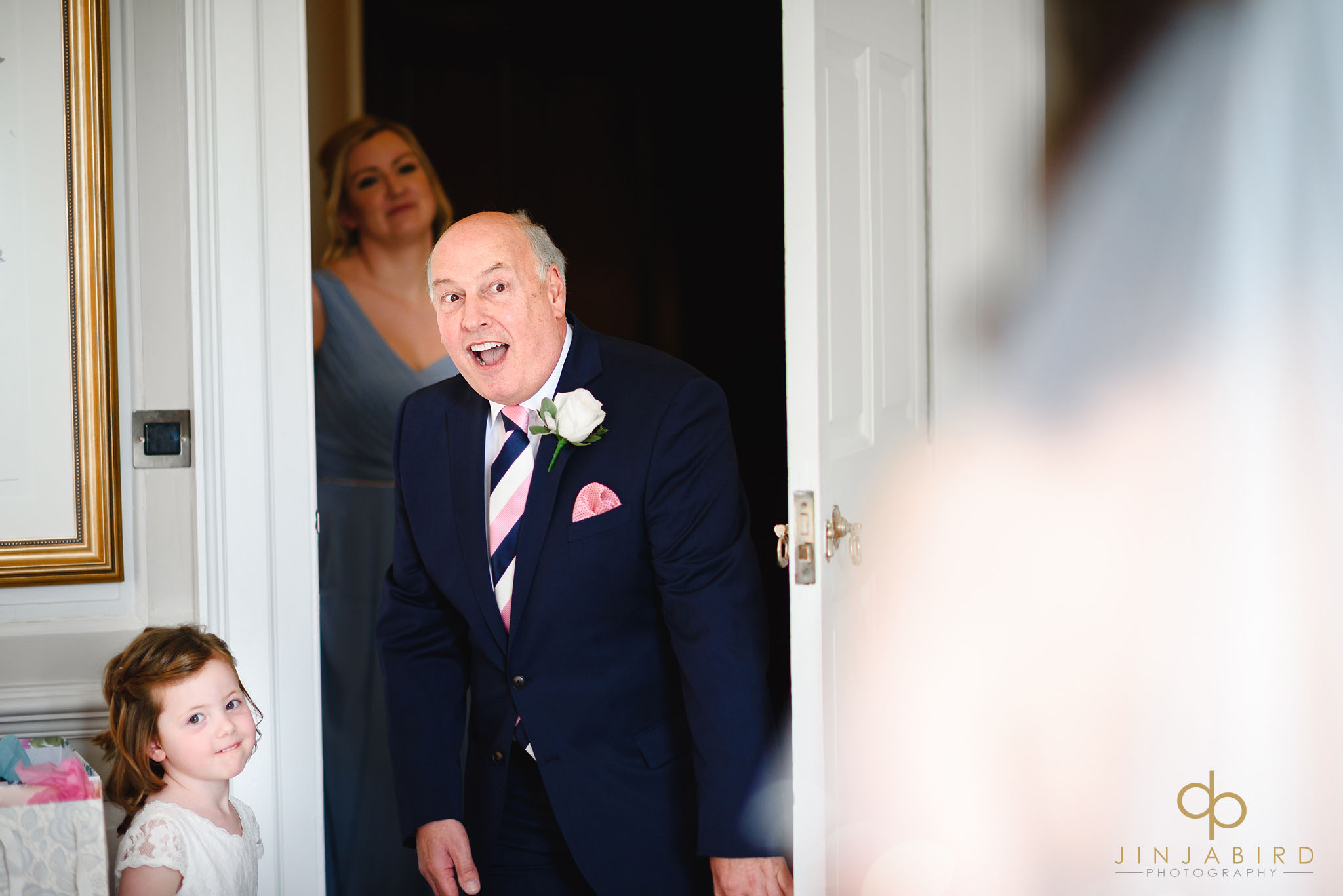 father sees bride for first time chicheley hall