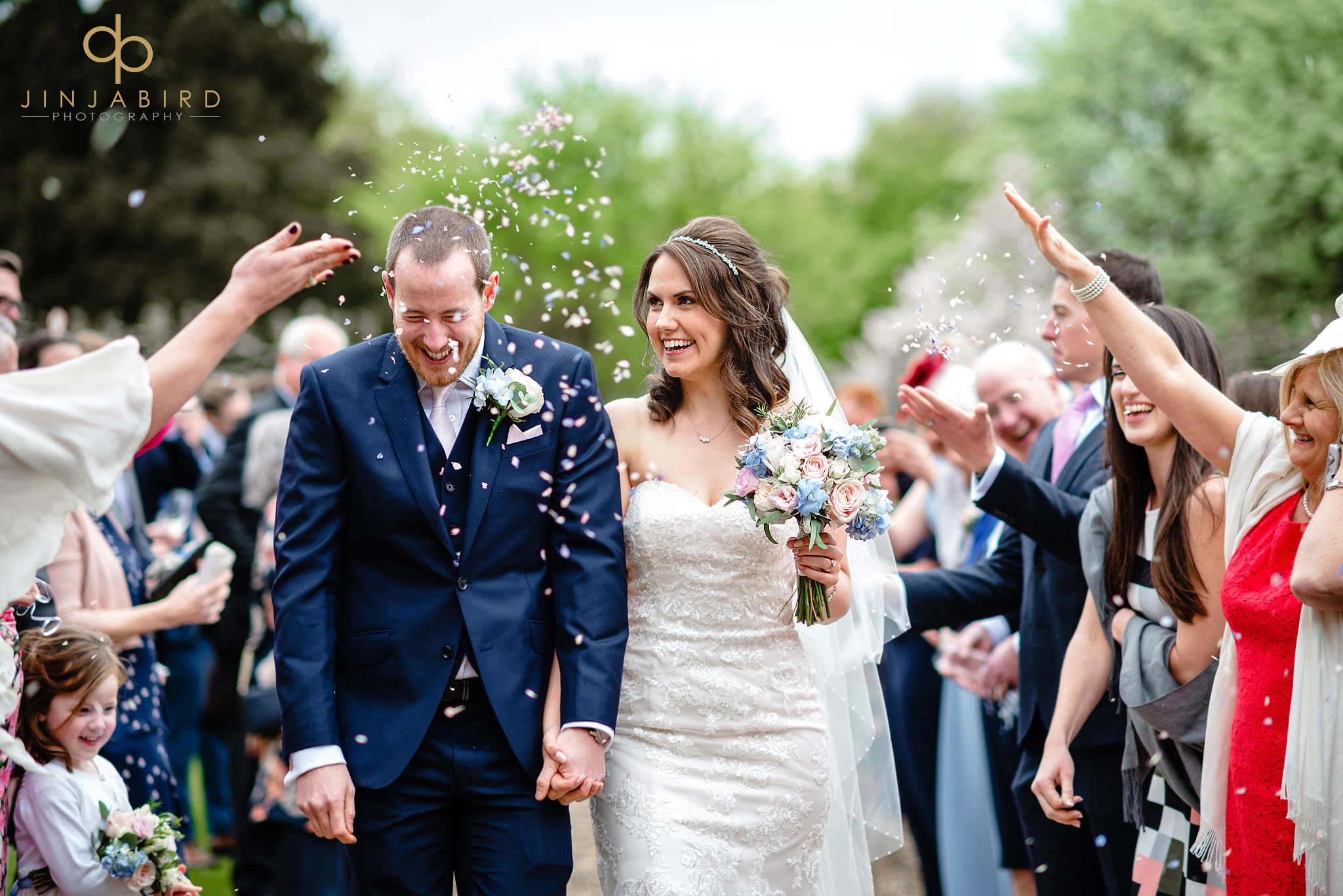 wedding confetti chicheley hall