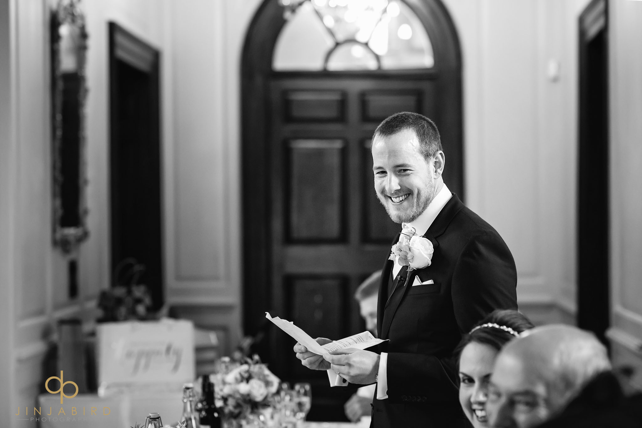 groom making speech chicheley hall