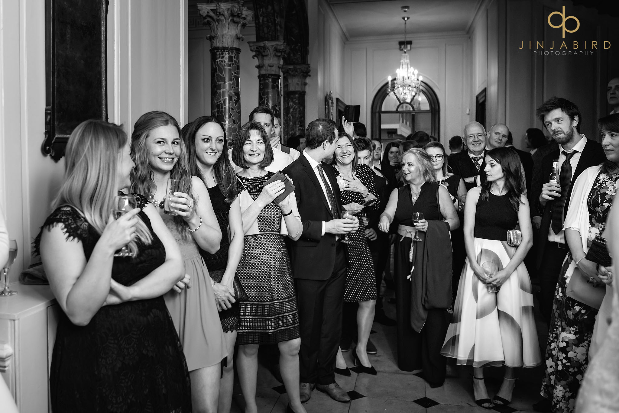 guest watching cake cutting chicheley hall