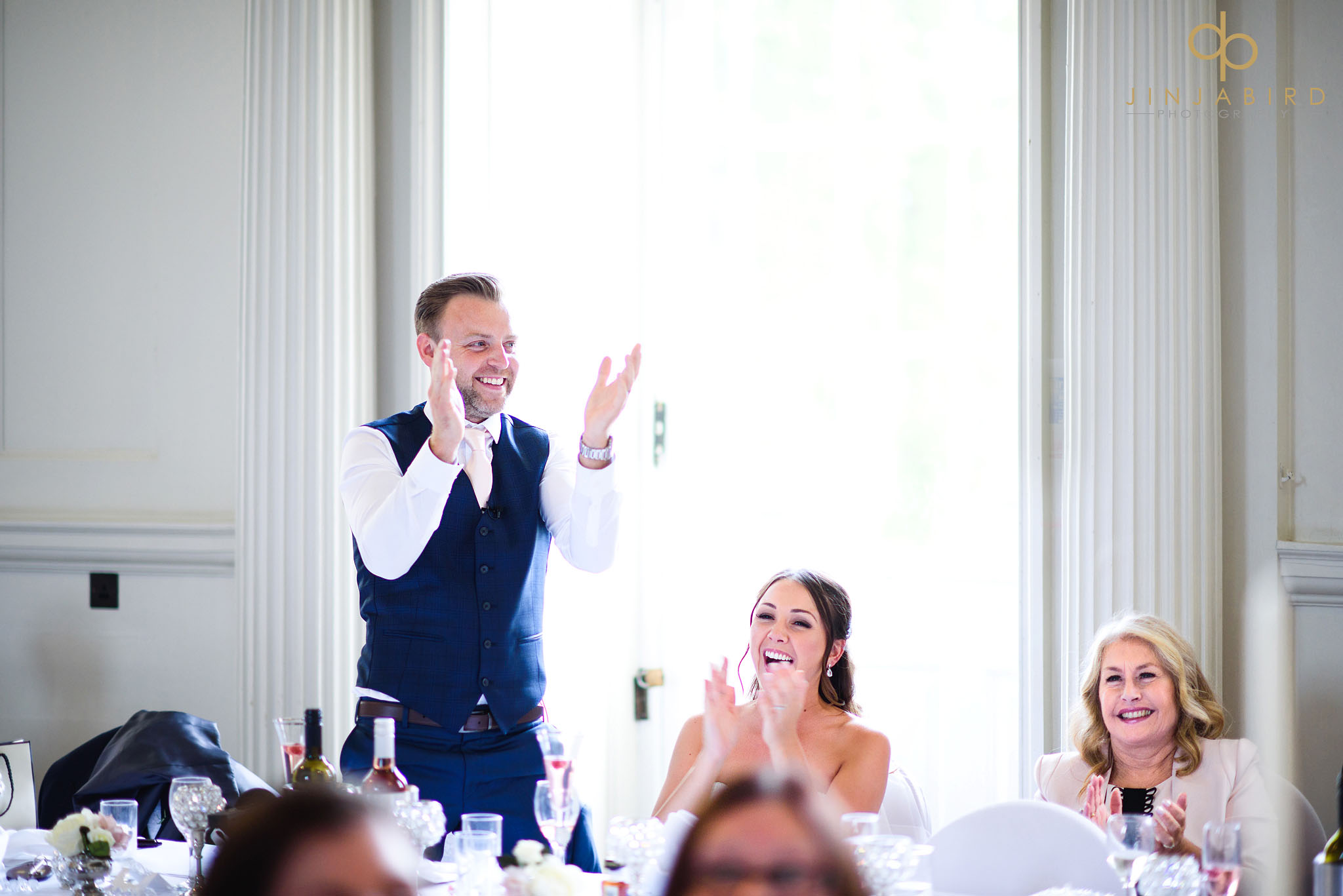 groom clapping chicheley hall