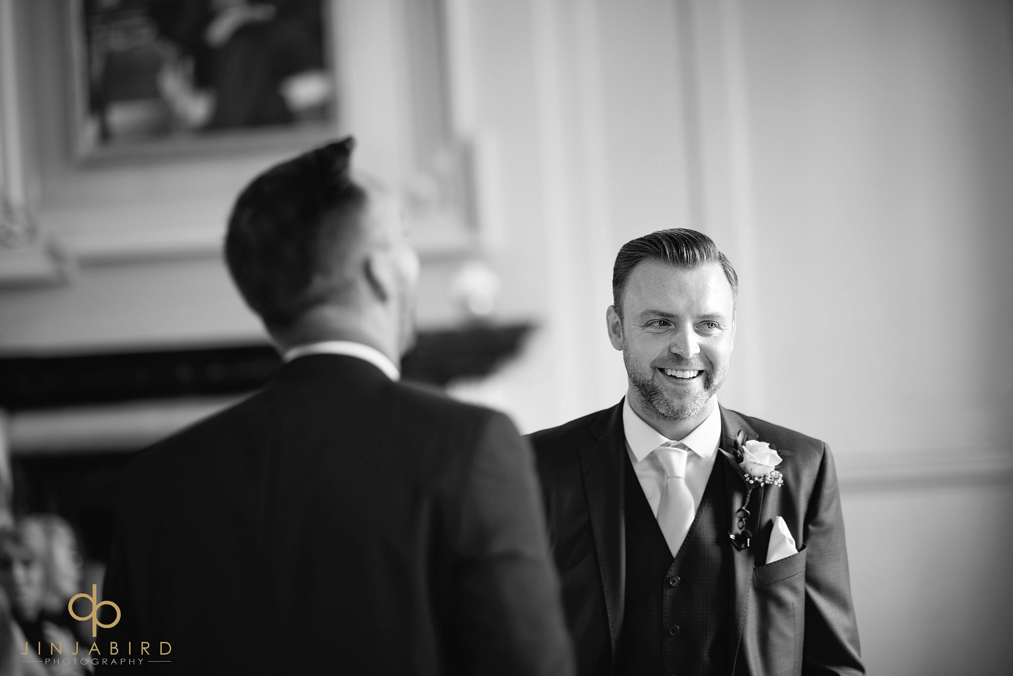 groom waiting chicheley hall