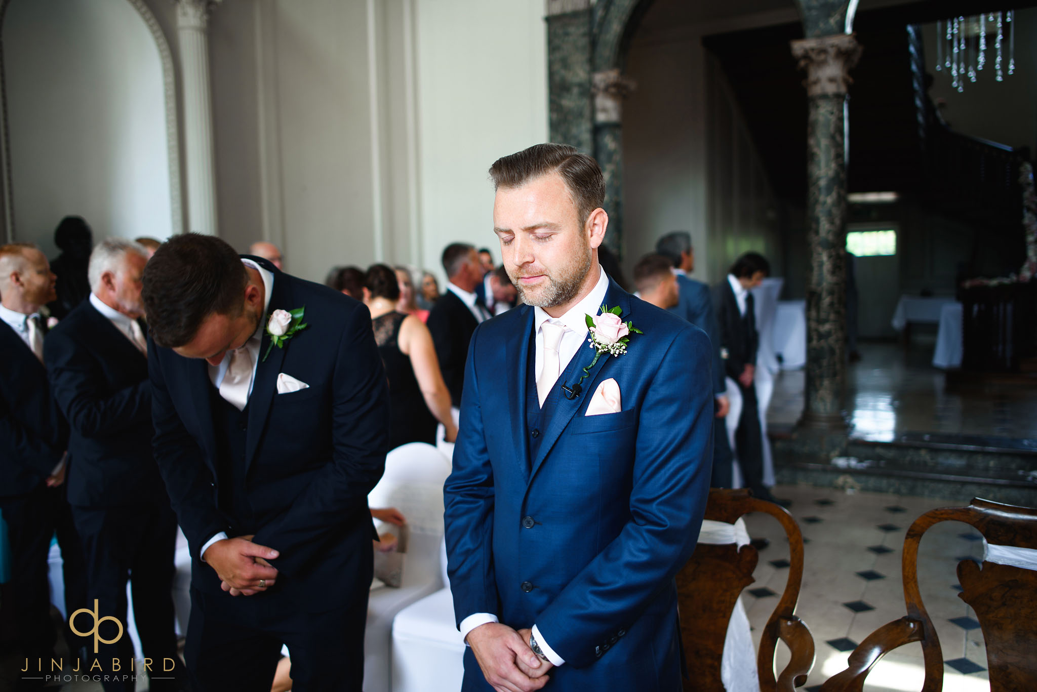 groom with bestman chicheley hall
