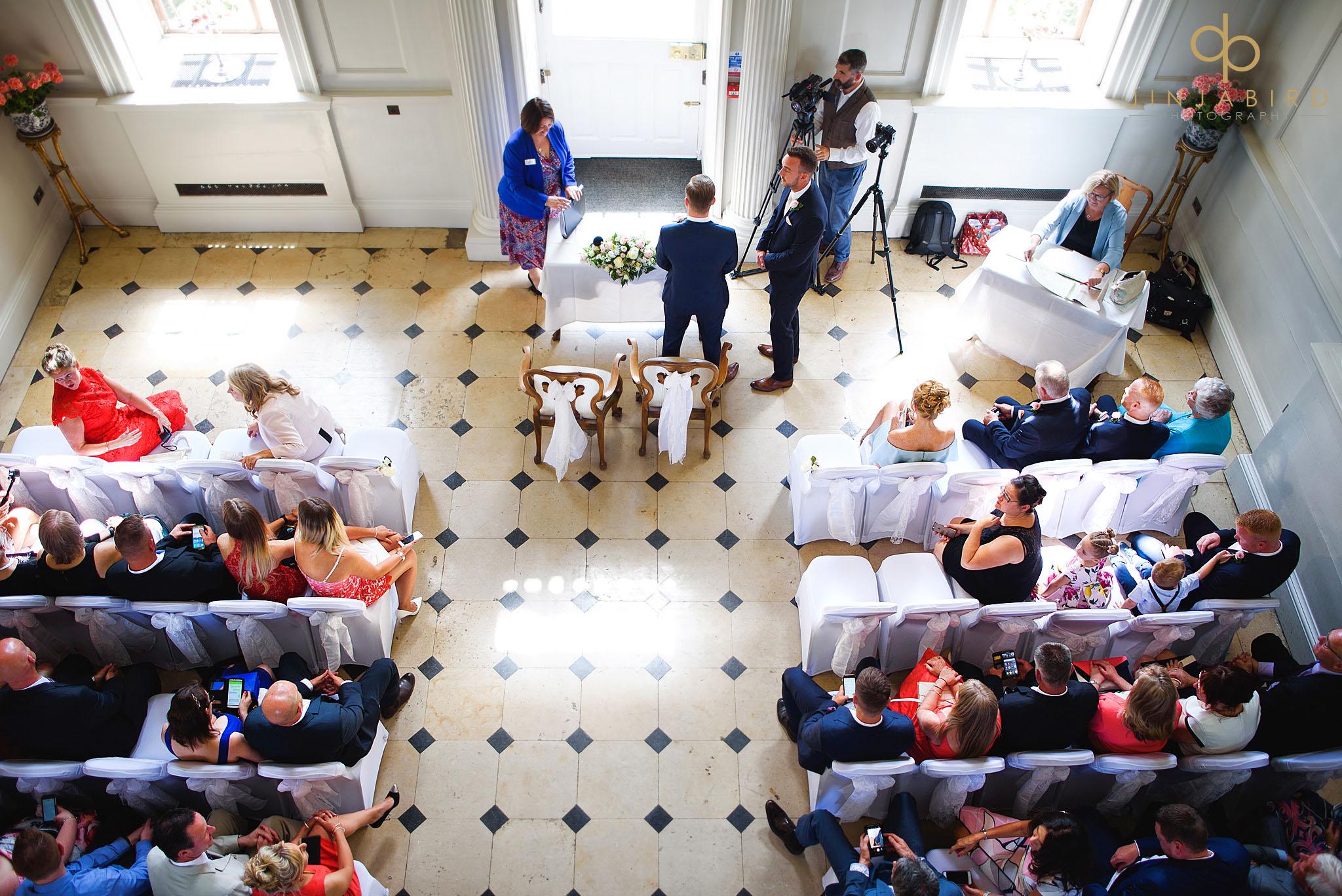 wedding ceremony chicheley hall