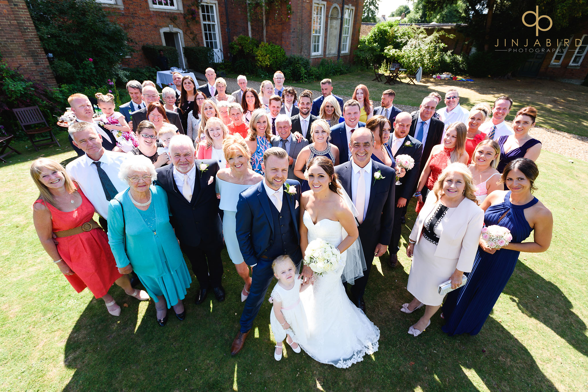 wedding group photo chicheley hall