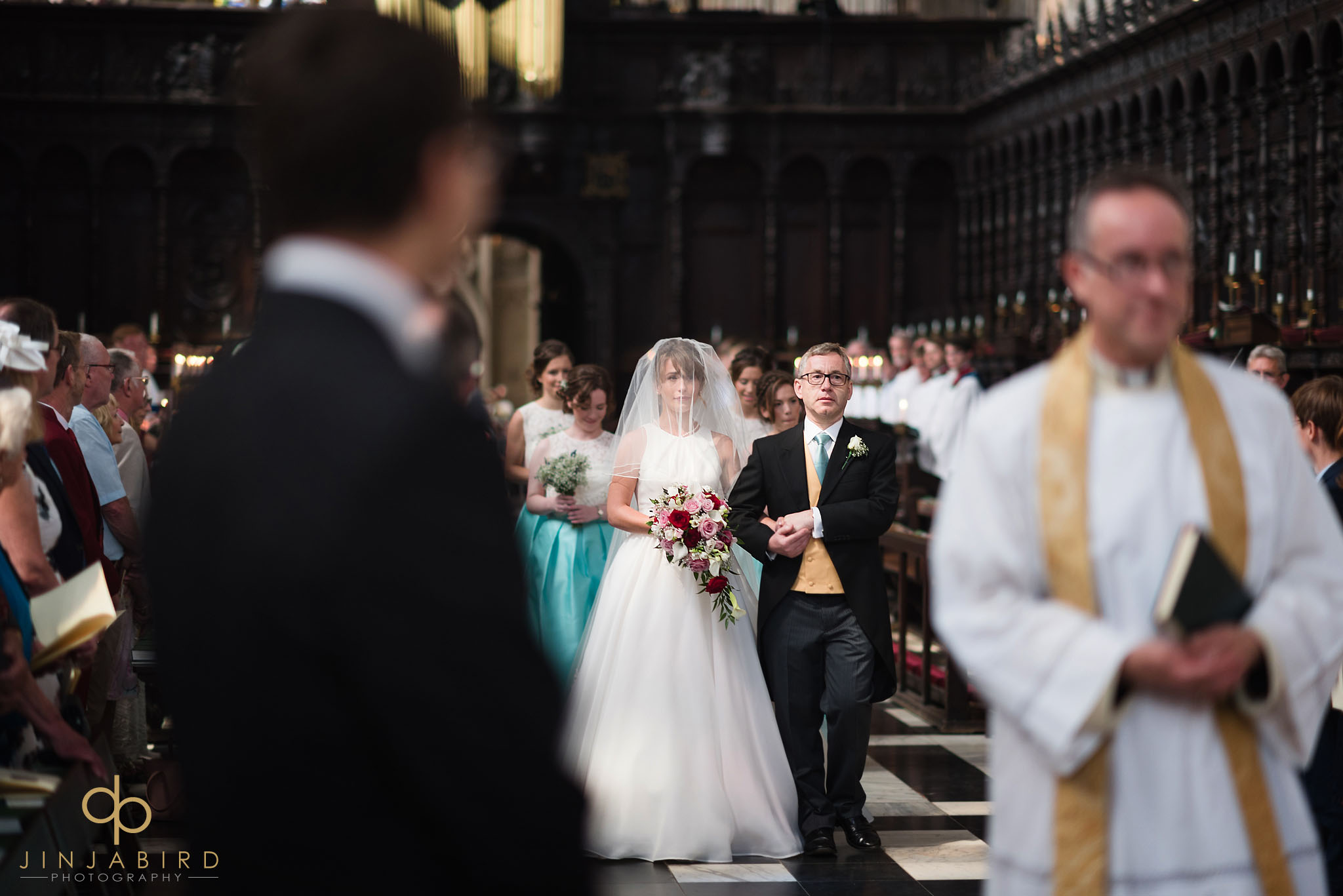 bridal precession kings college chapel