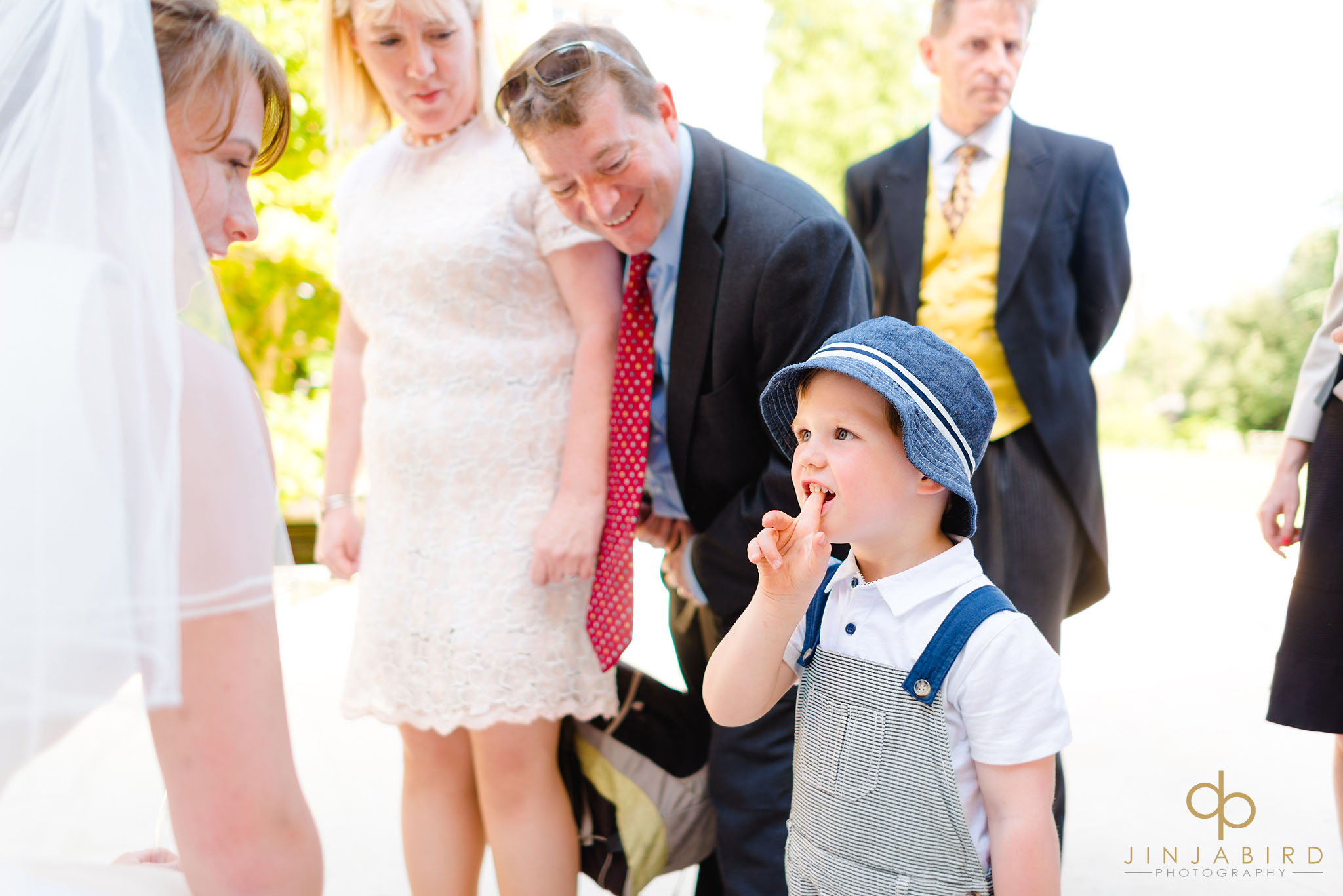 bride with pageboy downing college