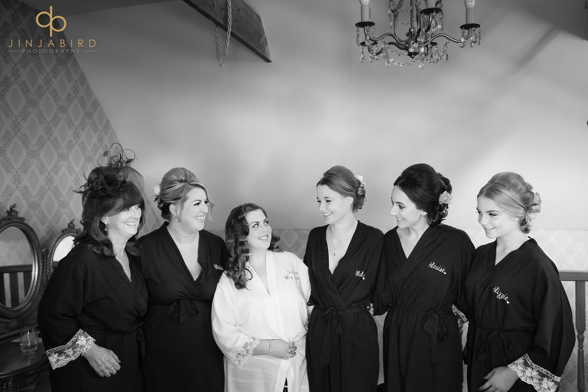 bridal party getting ready bassmead manor