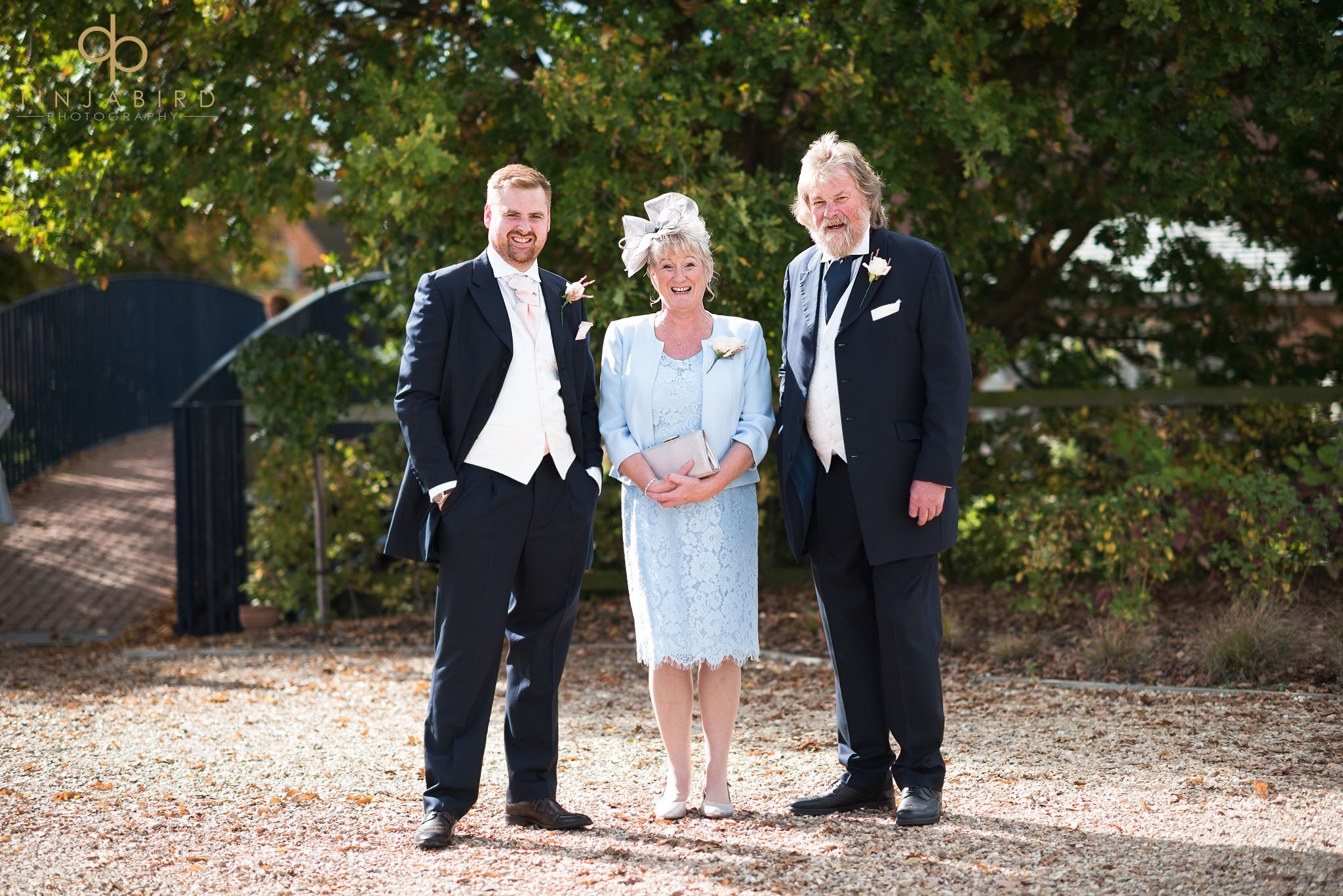 groom with parents bassmead manor