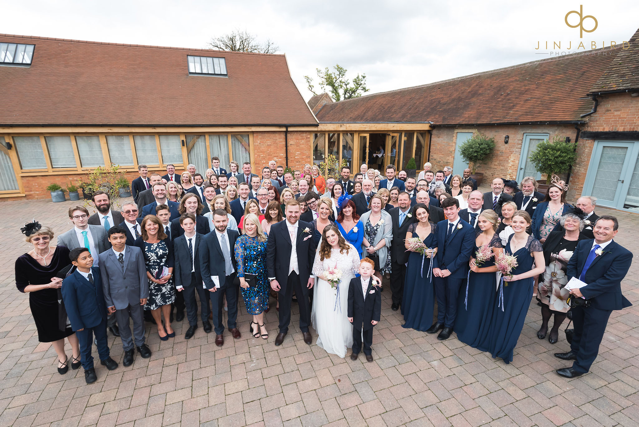 group photo of wedding guests bassmead manor