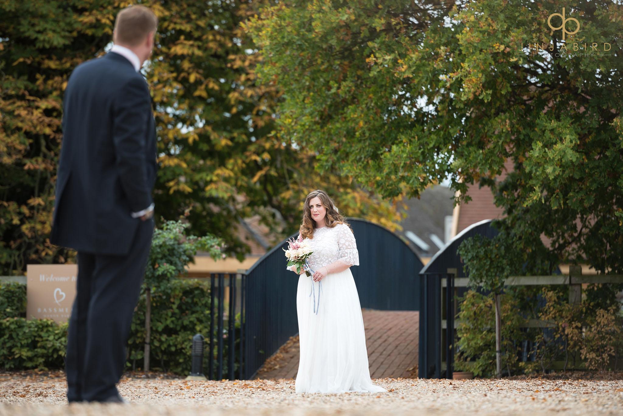 bride on bridge bassmead manor