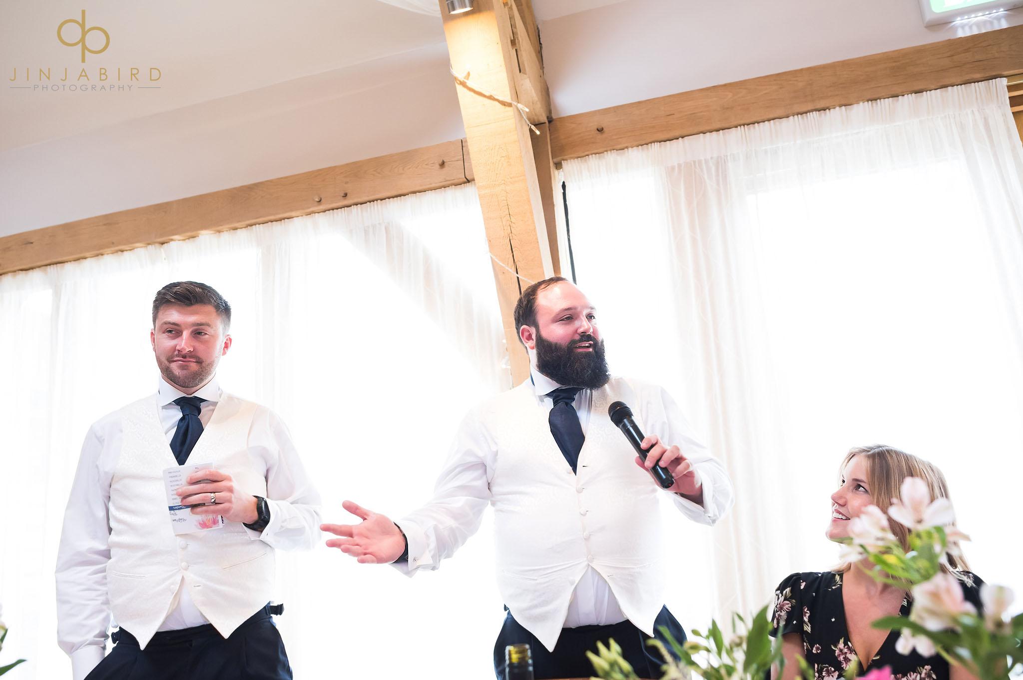 best men giving speech