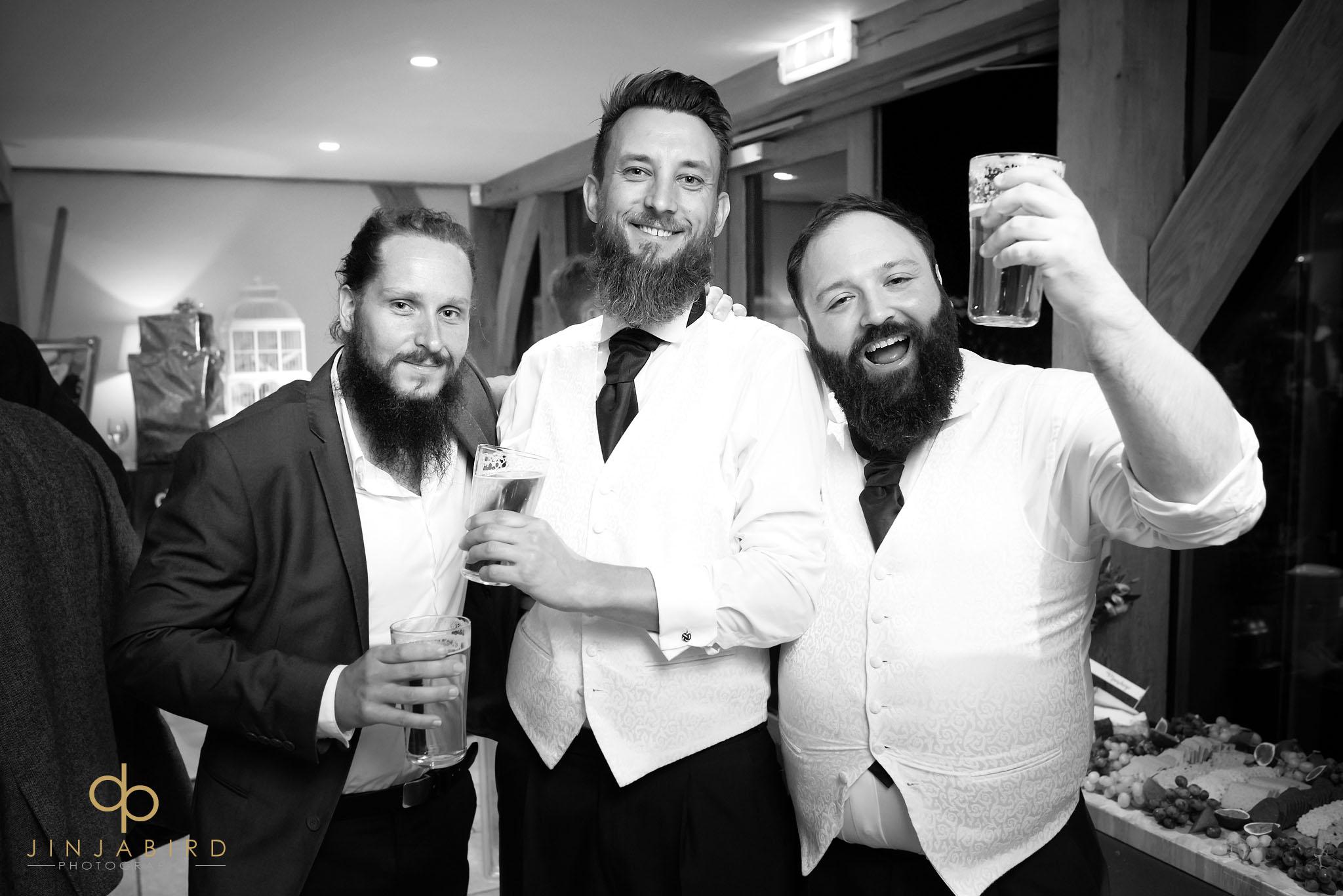 best men toasting