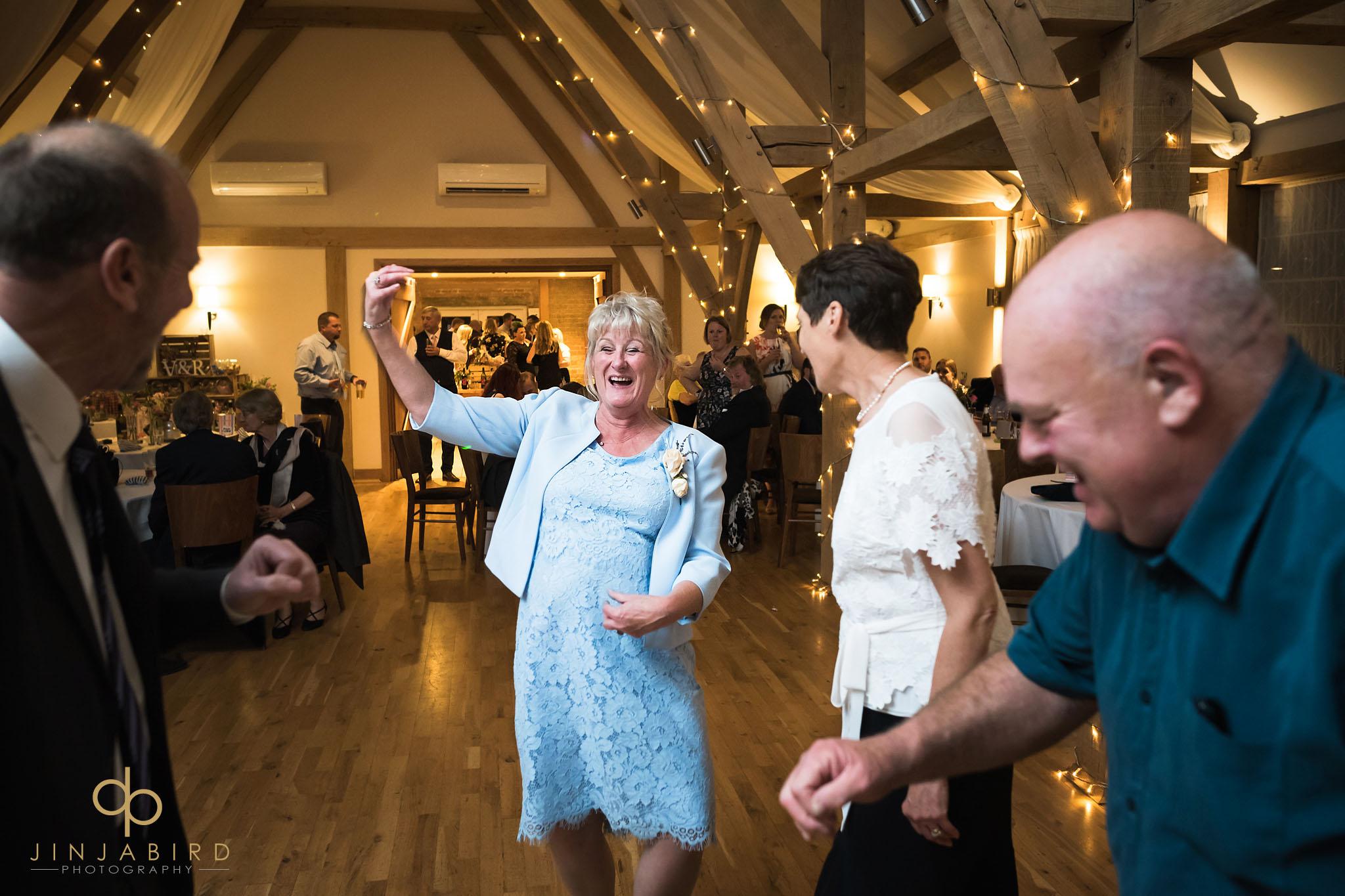 grooms mum dancing