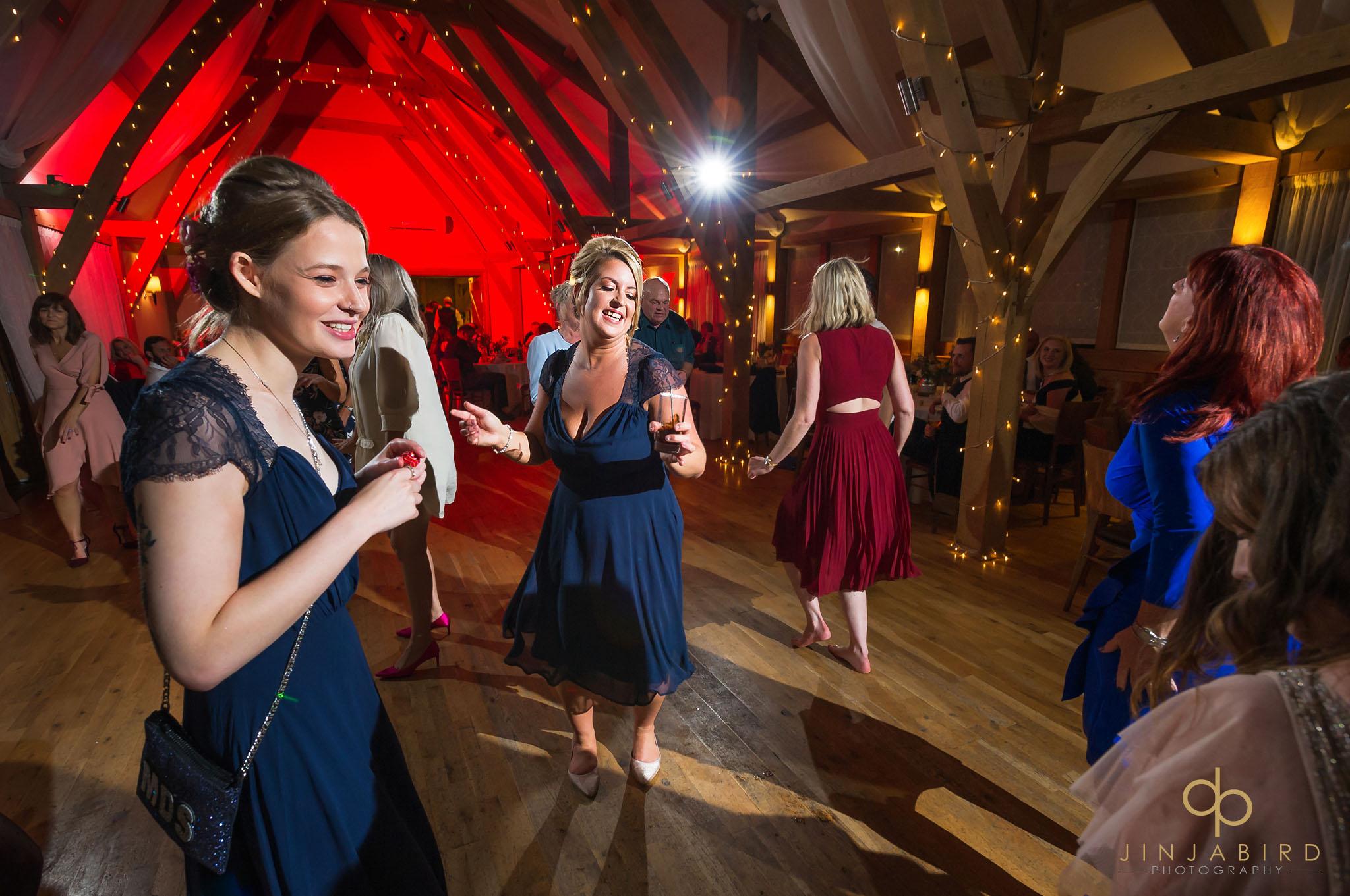 bridesmaids dancing bassmead manor