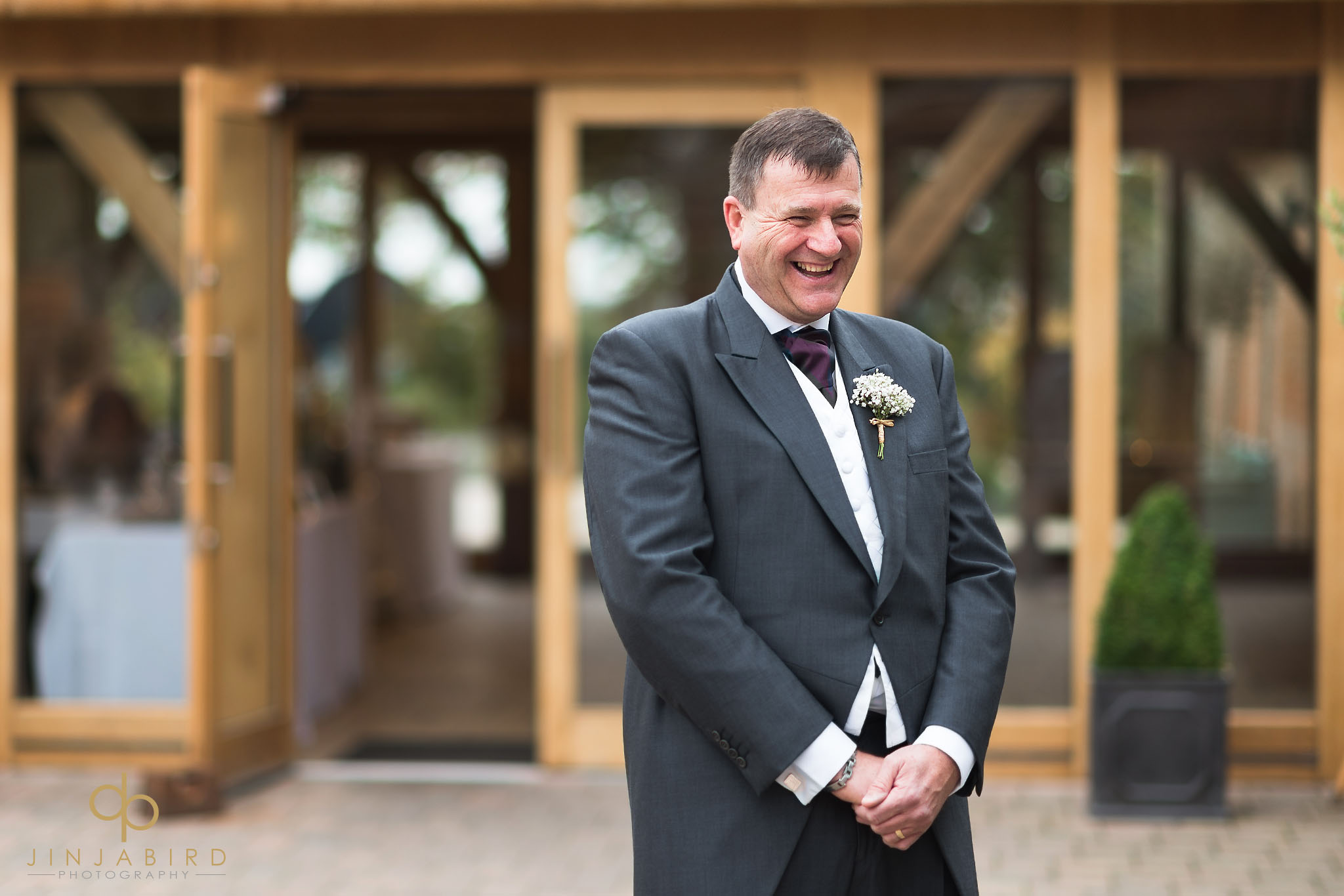 dad sees bride for first time in dress