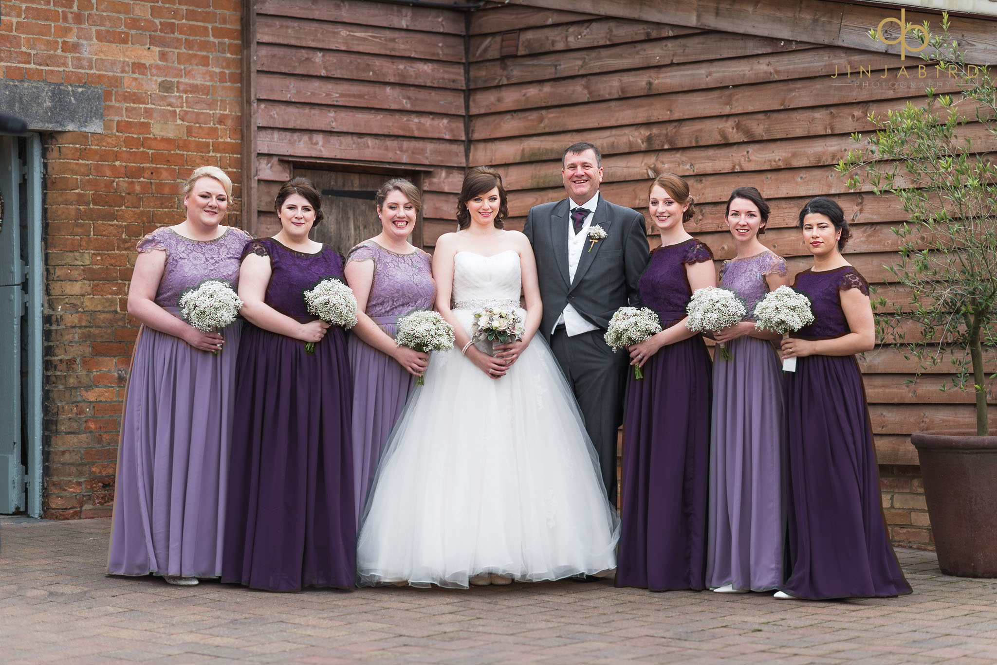 bridal party just about to enter rickety barn bassmead