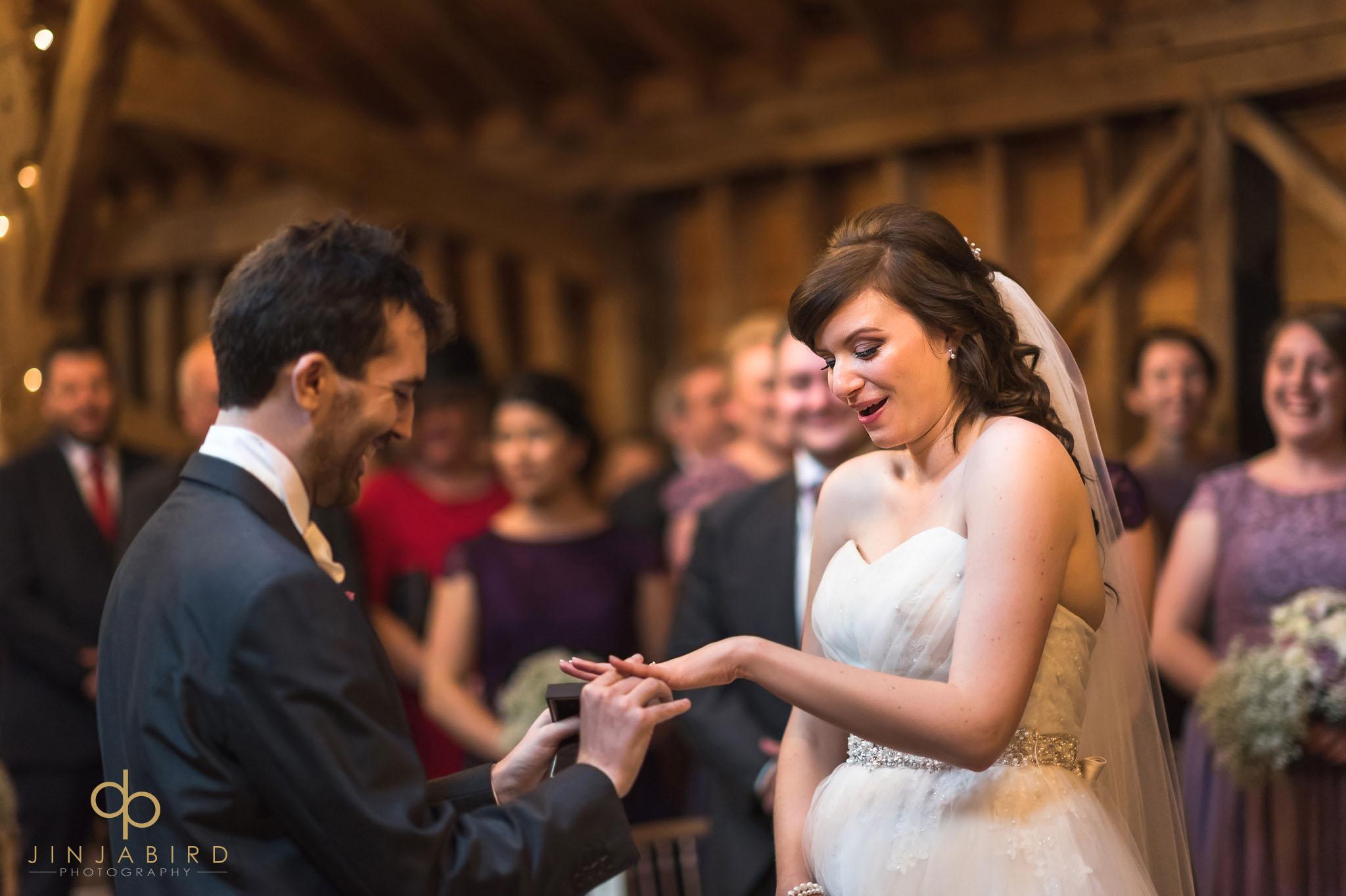 putting on wedding ring rickety barn bassmead