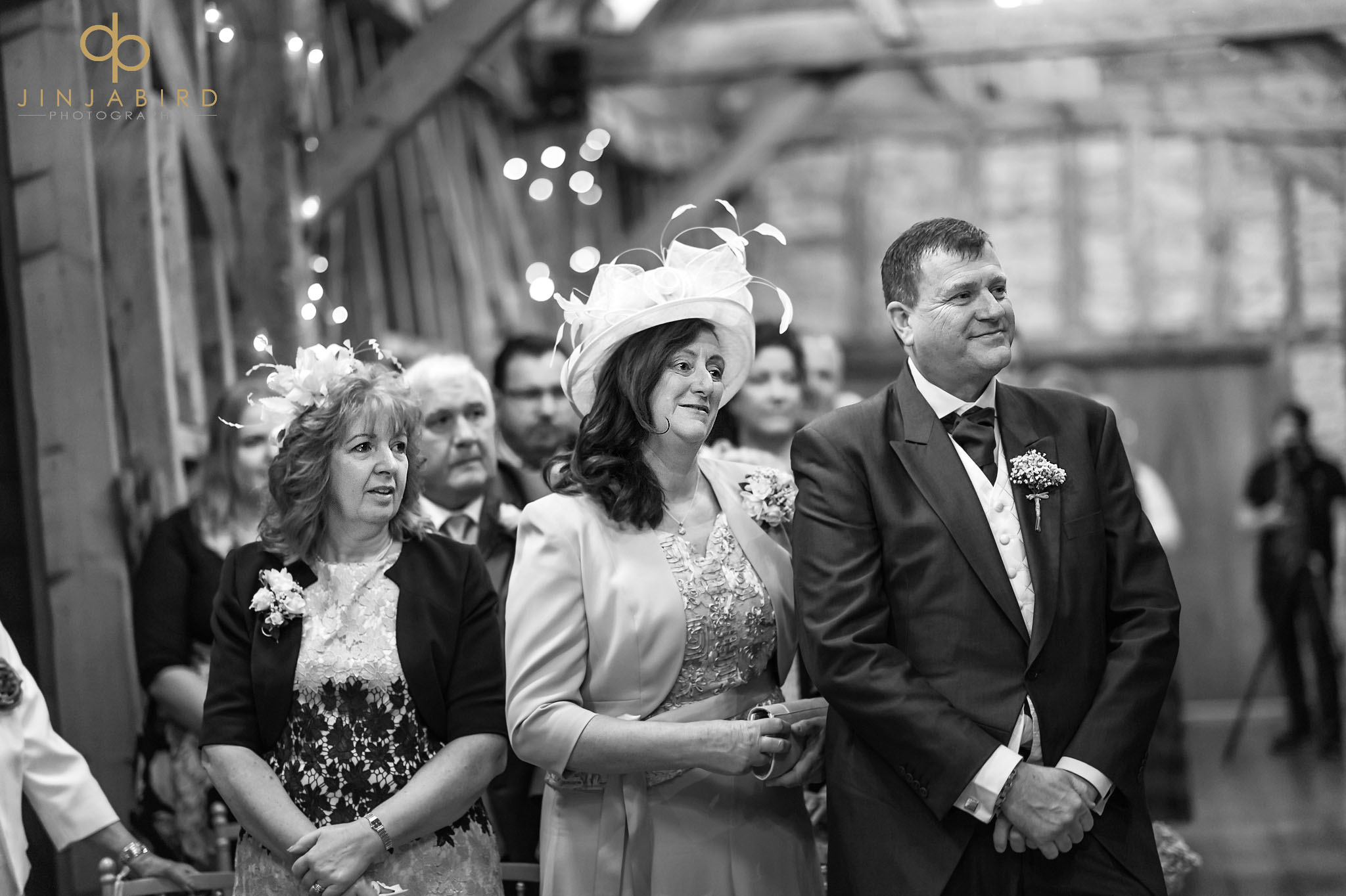 parents during wedding ceremony
