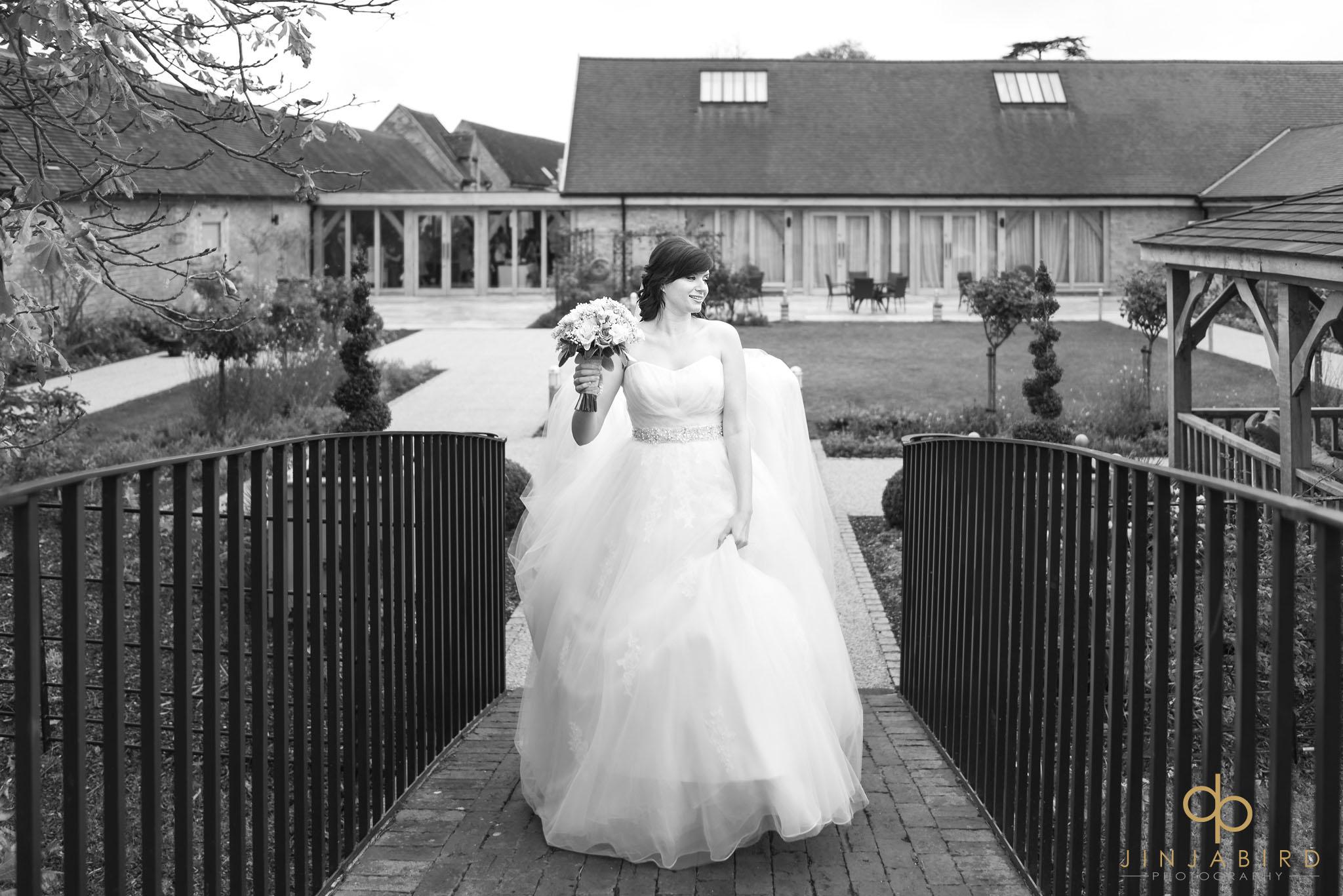 bride crossing bridge bassmead manor