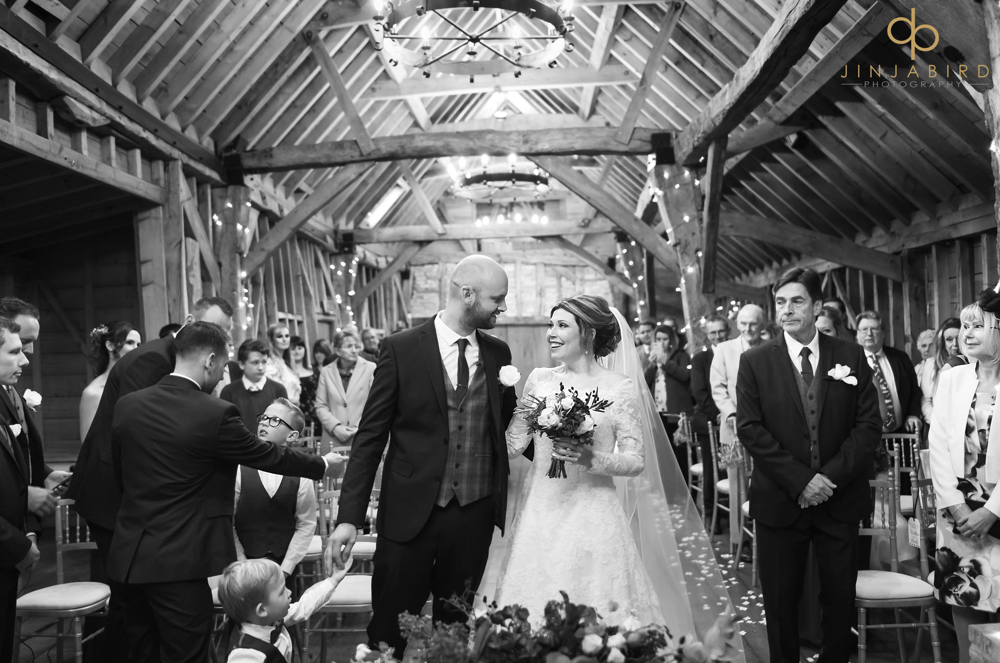 wedding ceremony at bassmead manor