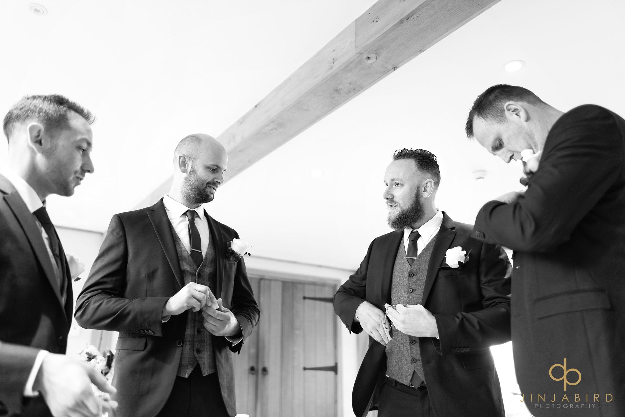 groom with best men