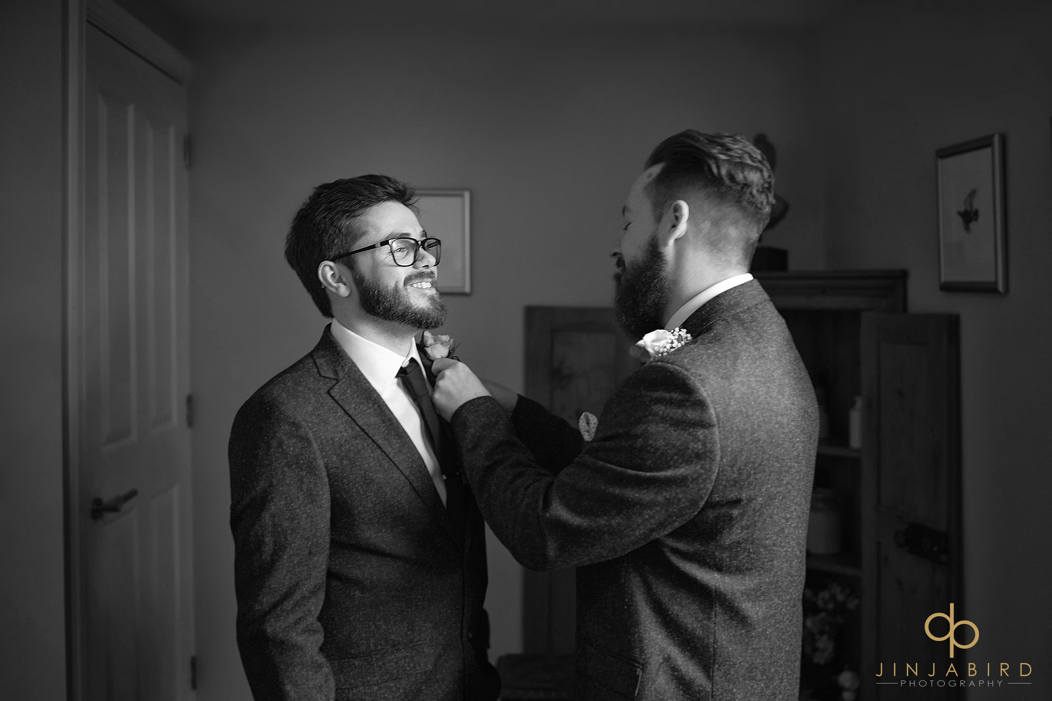 groom with buttonhole