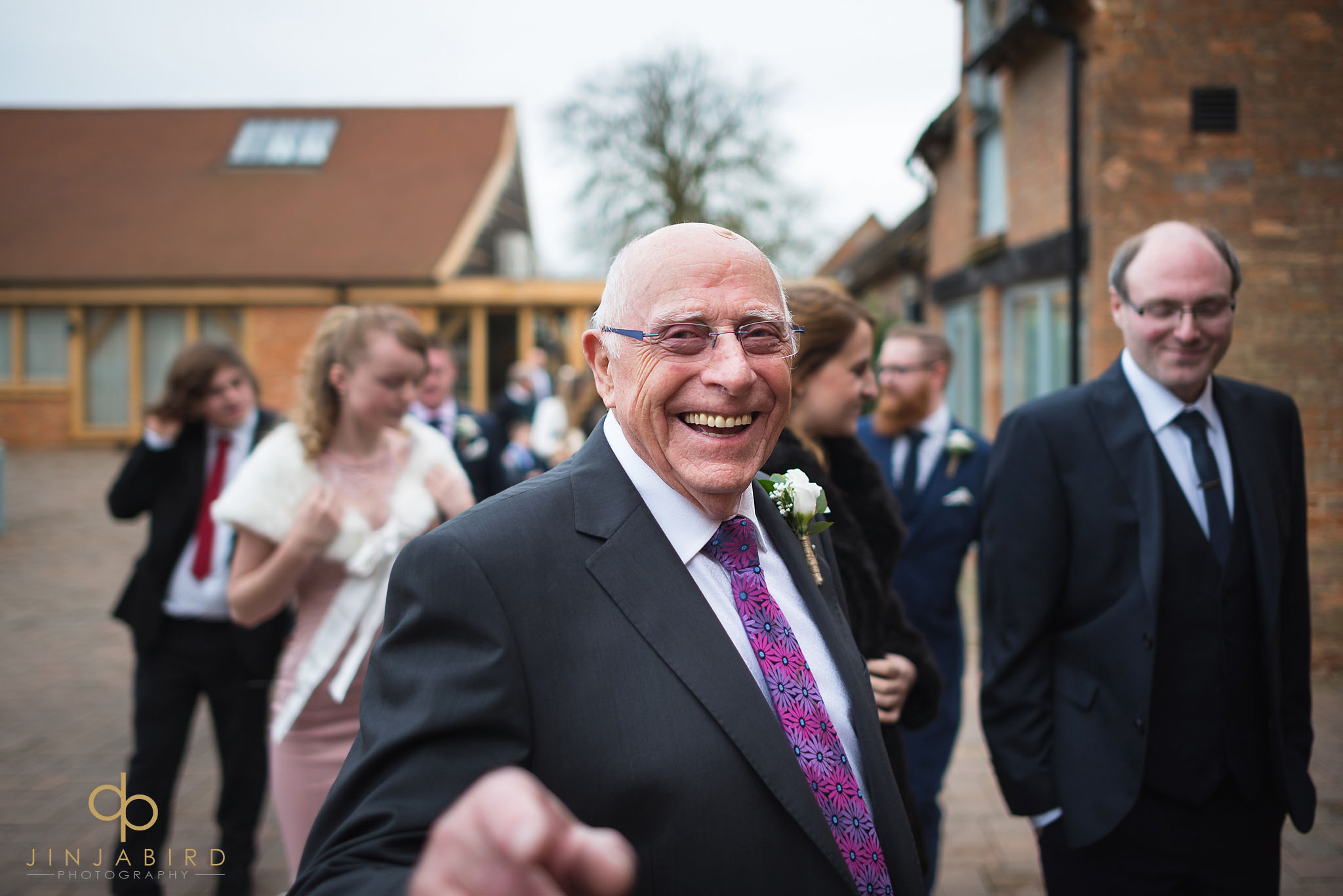 grandfather laughing
