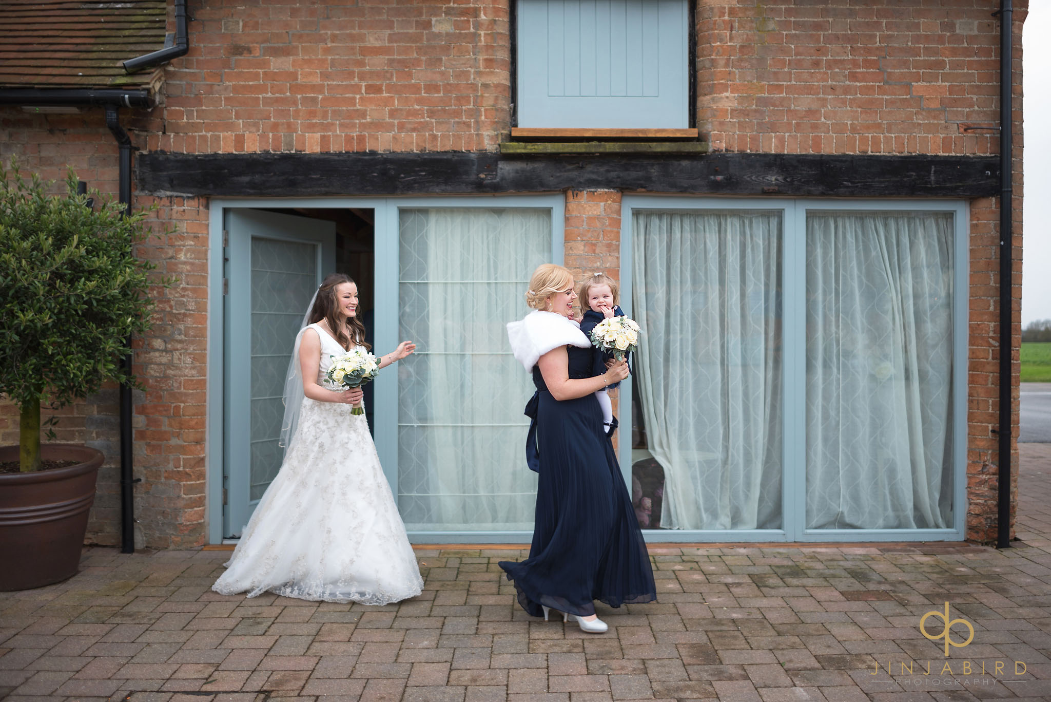 bride leaving boudoir