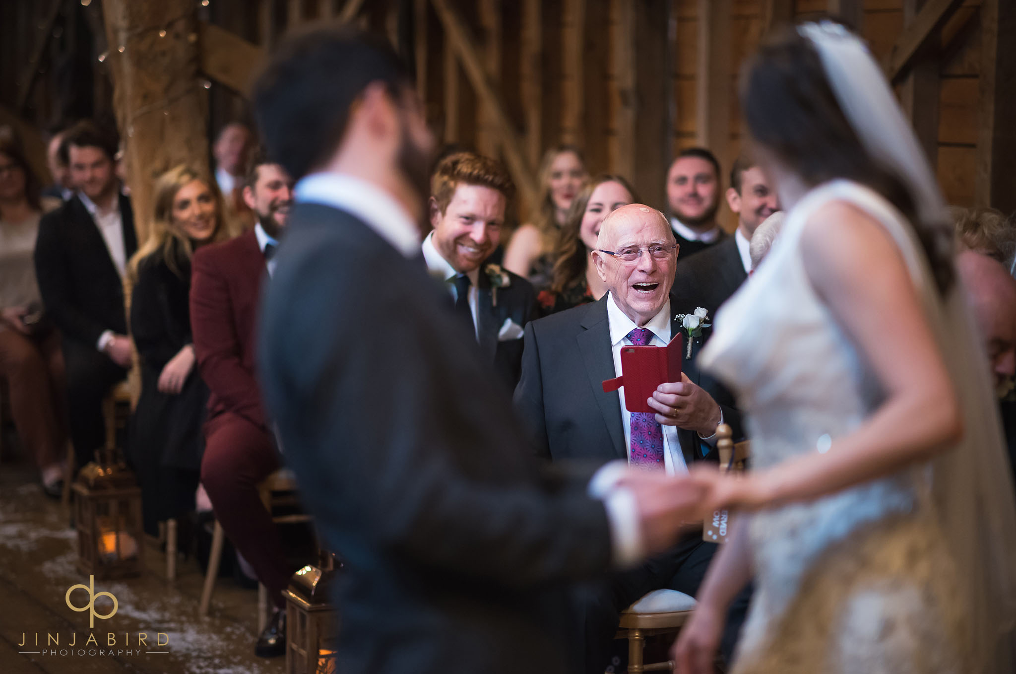 grandfather watching weddng