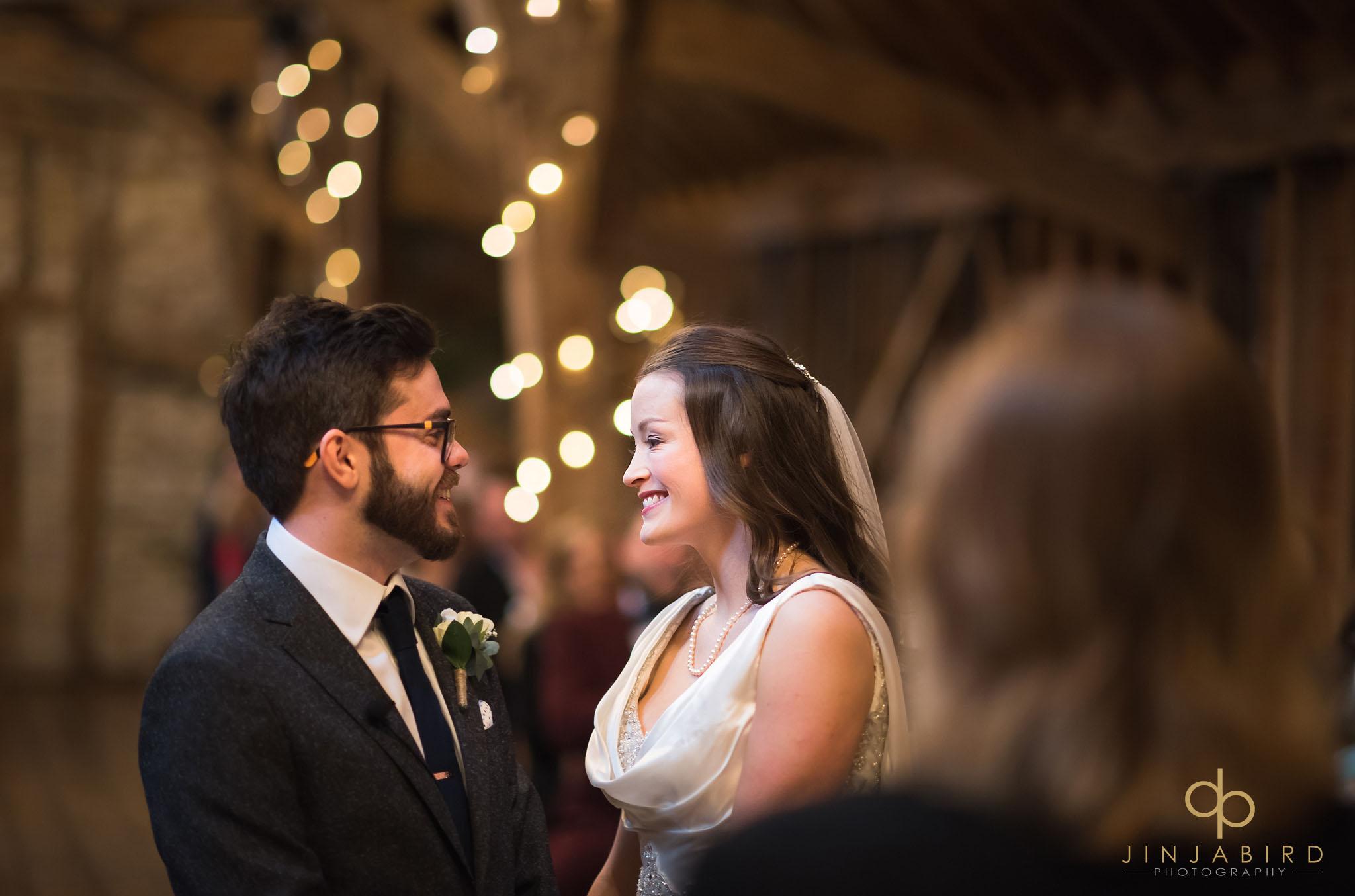 wedding ceremony rickety barn